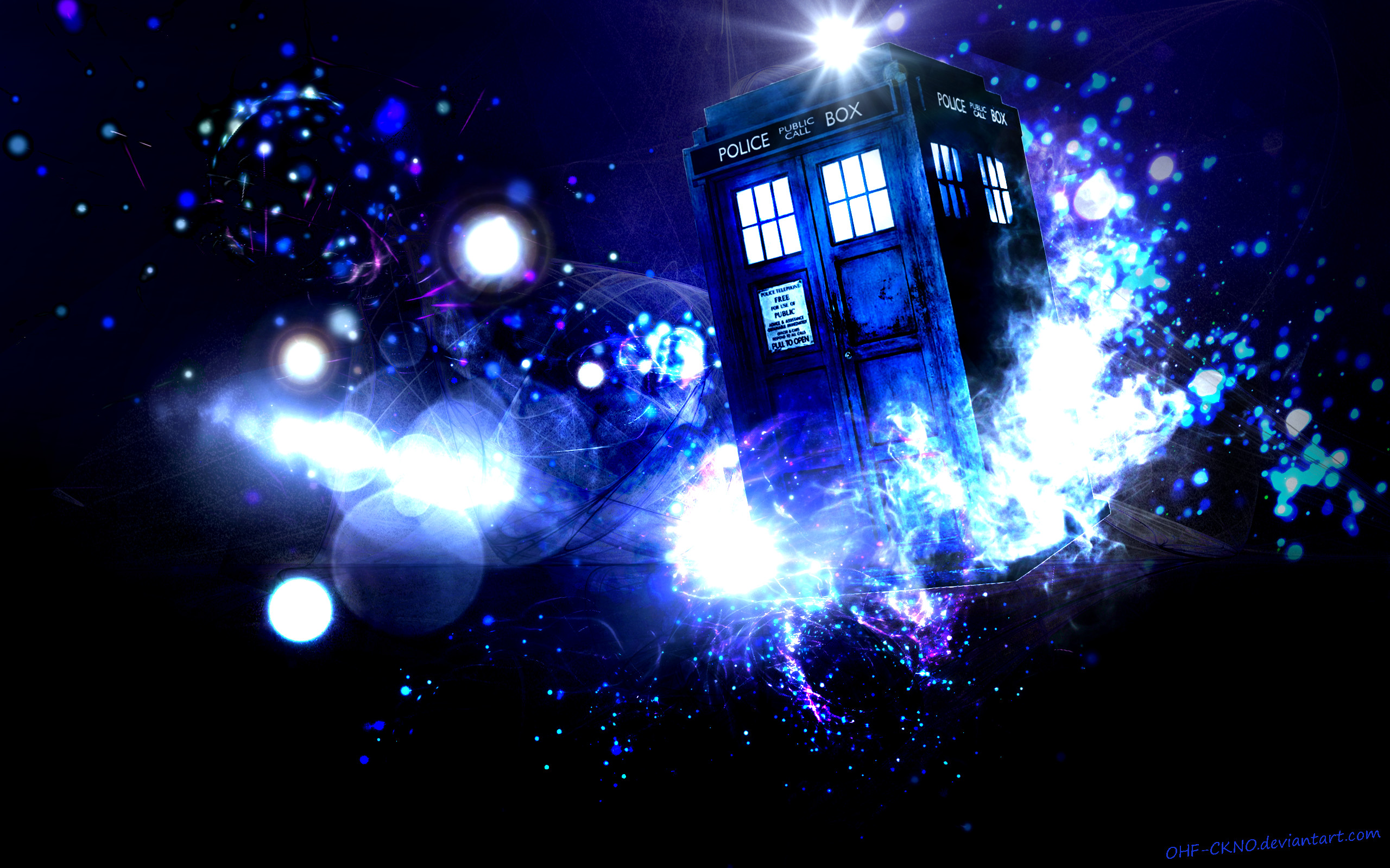 Res: 2560x1600, Tardis Wallpaper by OHF CKNO
