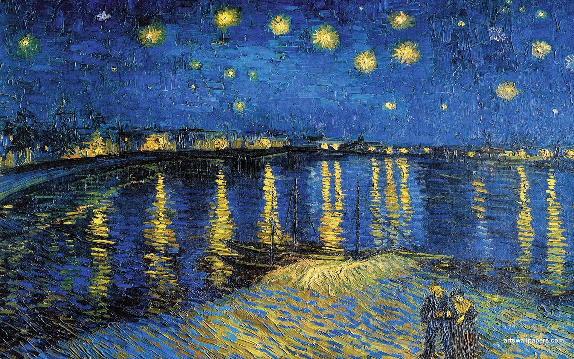 Res: 1920x1200, Collection of Starry Night By Vincent Van Gogh Widescreen Pics: 45430872,