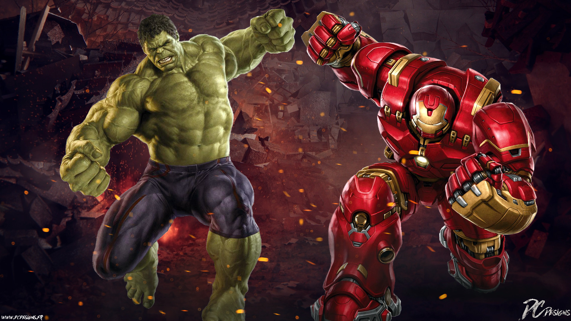 Res: 1920x1080, Movie - Avengers: Age of Ultron Hulk Vs Hulkbuster Hulk Wallpaper