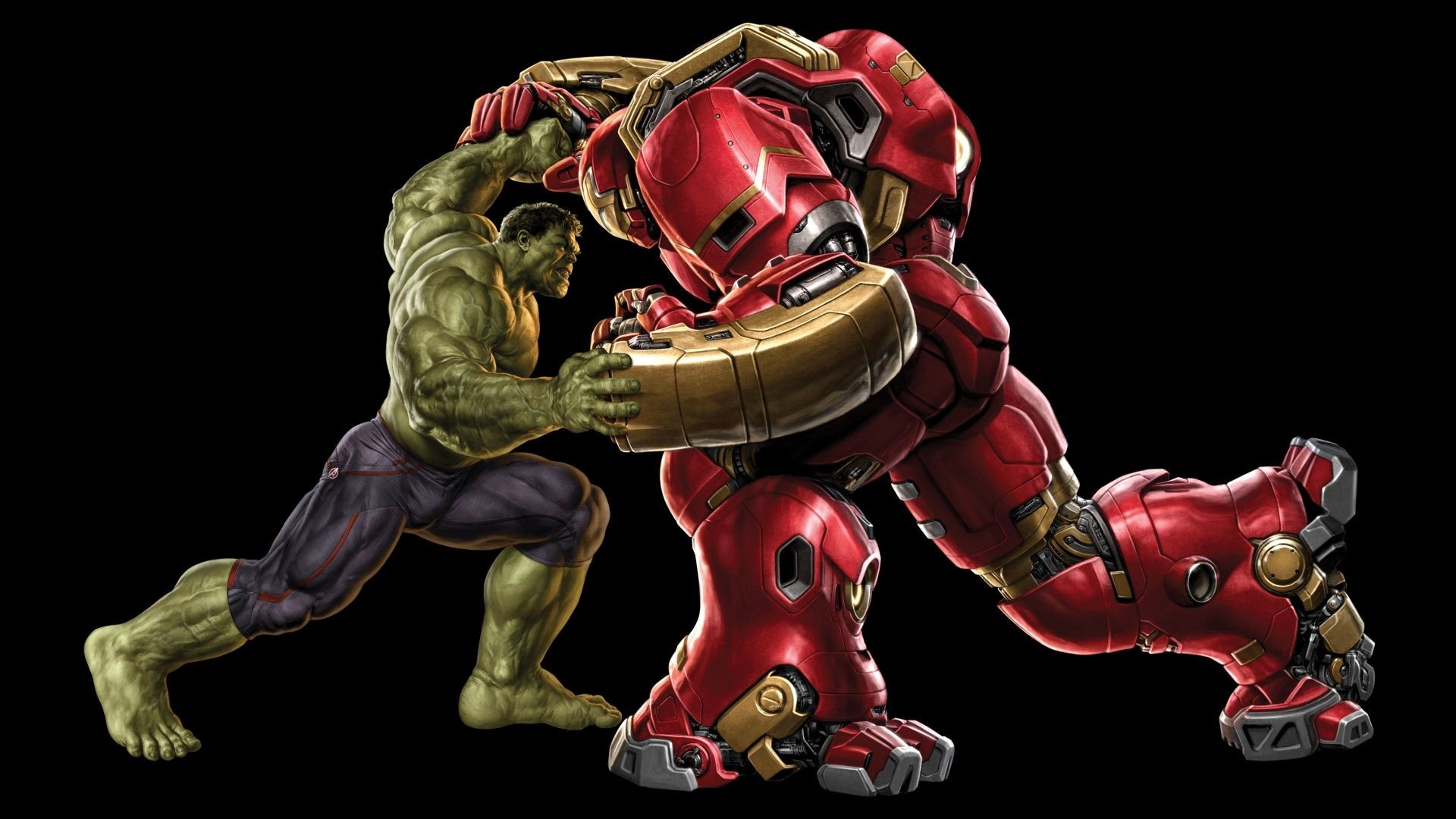 Res: 1920x1080, Hulk vs Hulkbuster Wallpaper