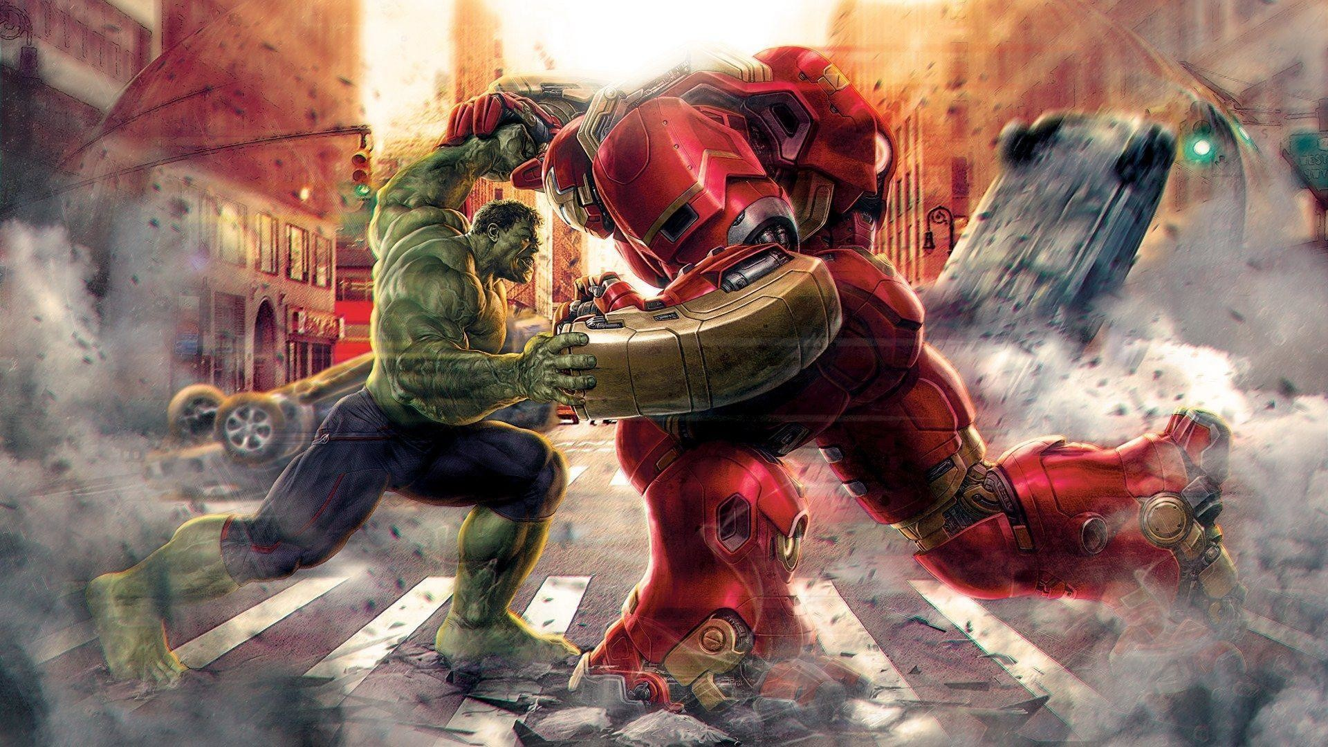 Res: 1920x1080, Hulk-vs-Hulkbuster-Avengers-Age-of-Ultron-Wallpaper-