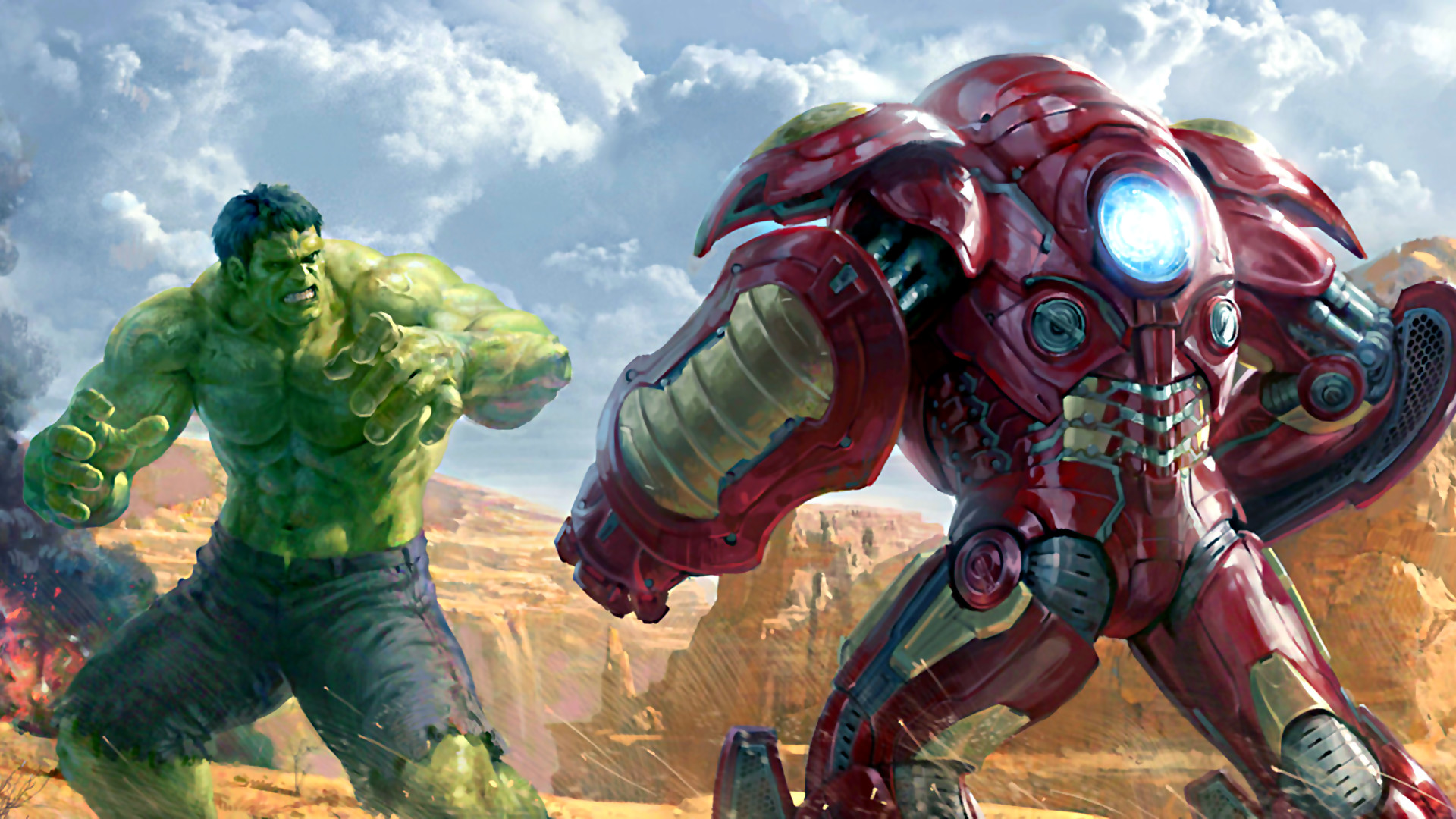 Res: 1920x1080, Comics - Iron Man Marvel Comics Hulkbuster Hulk Wallpaper
