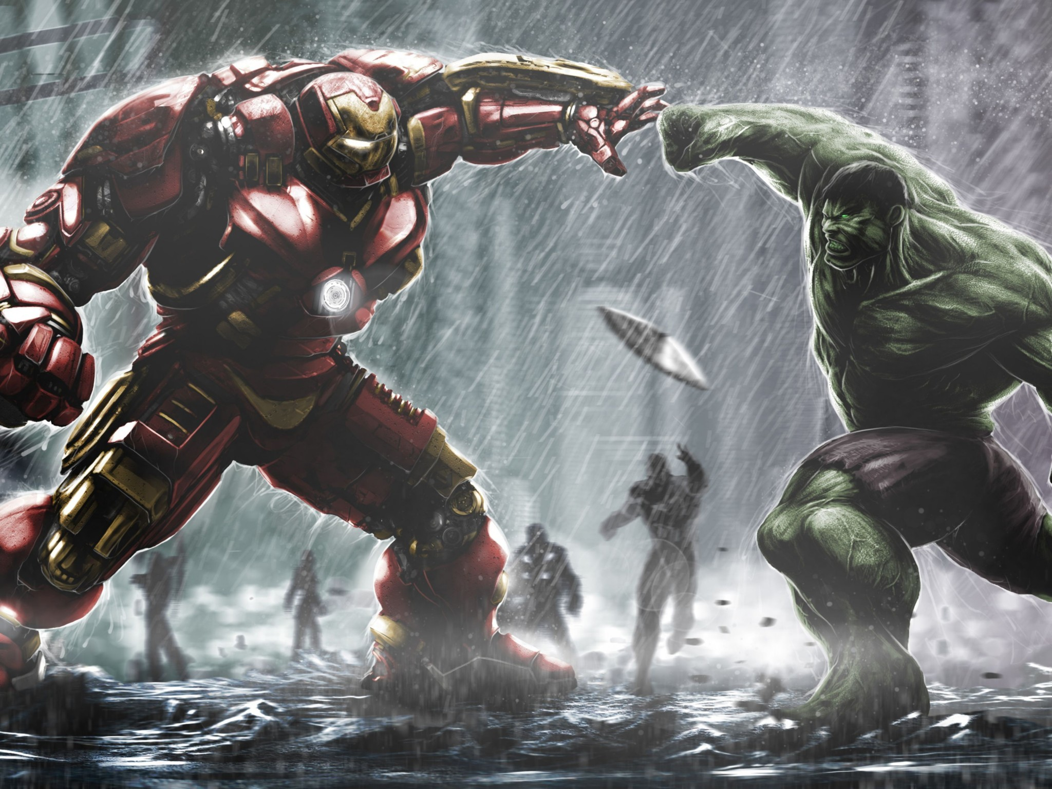 Res: 2048x1536, Hulkbuster Ironman Vs Hulk HD Wallpaper