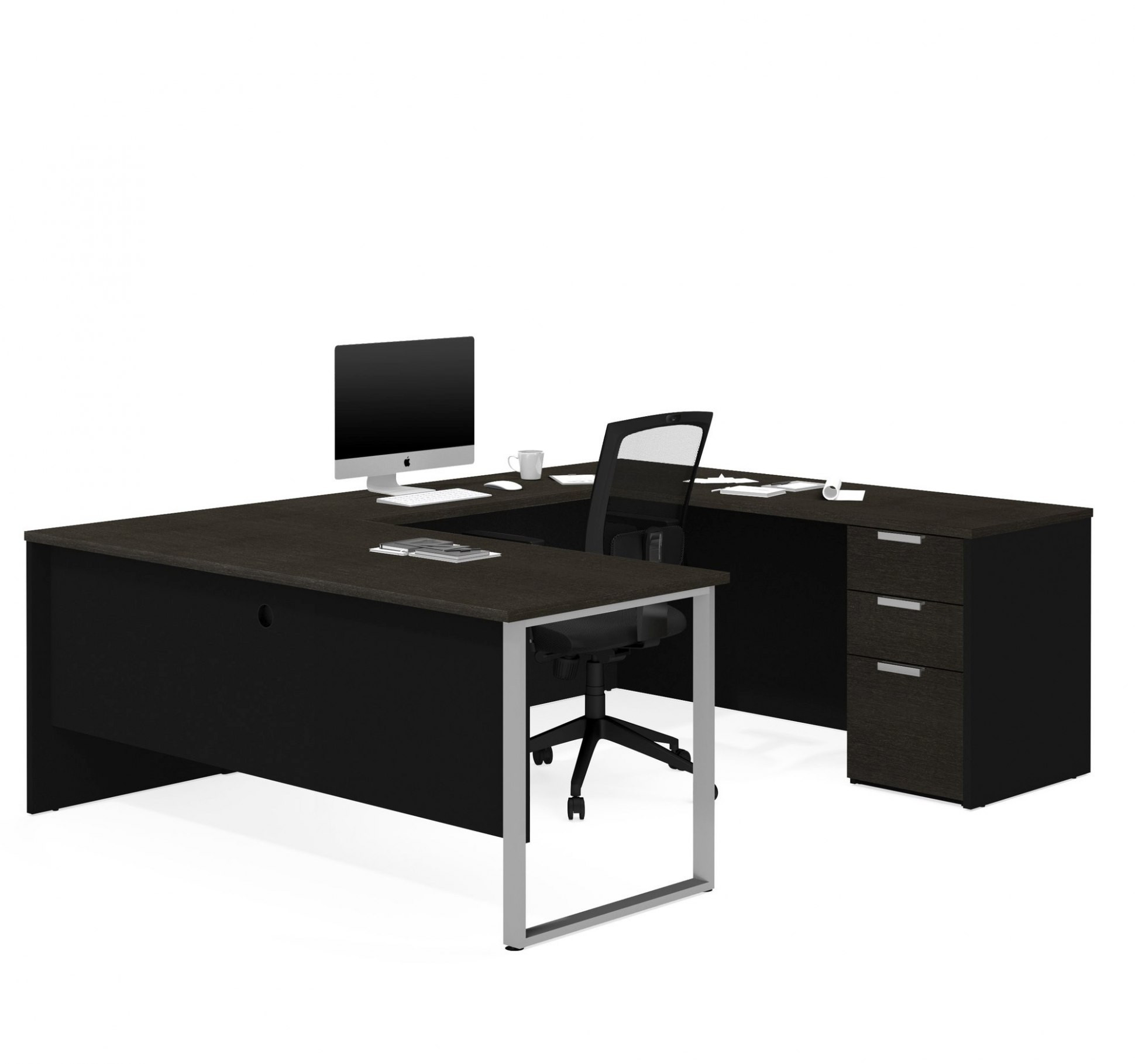 Res: 1940x1818, Black U Shaped Office Desk | Home Decor Gallery Image And Wallpaper within  Black U Shaped