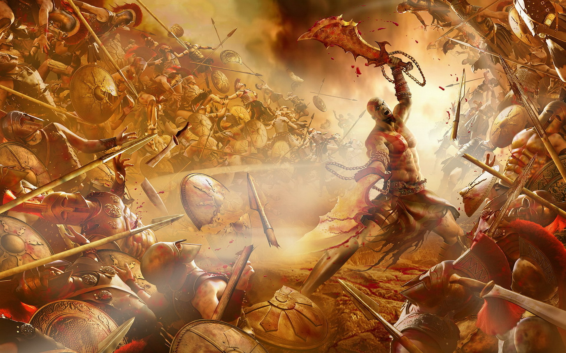 Res: 1920x1200, Description: Download God of War 3 wallpaper ...