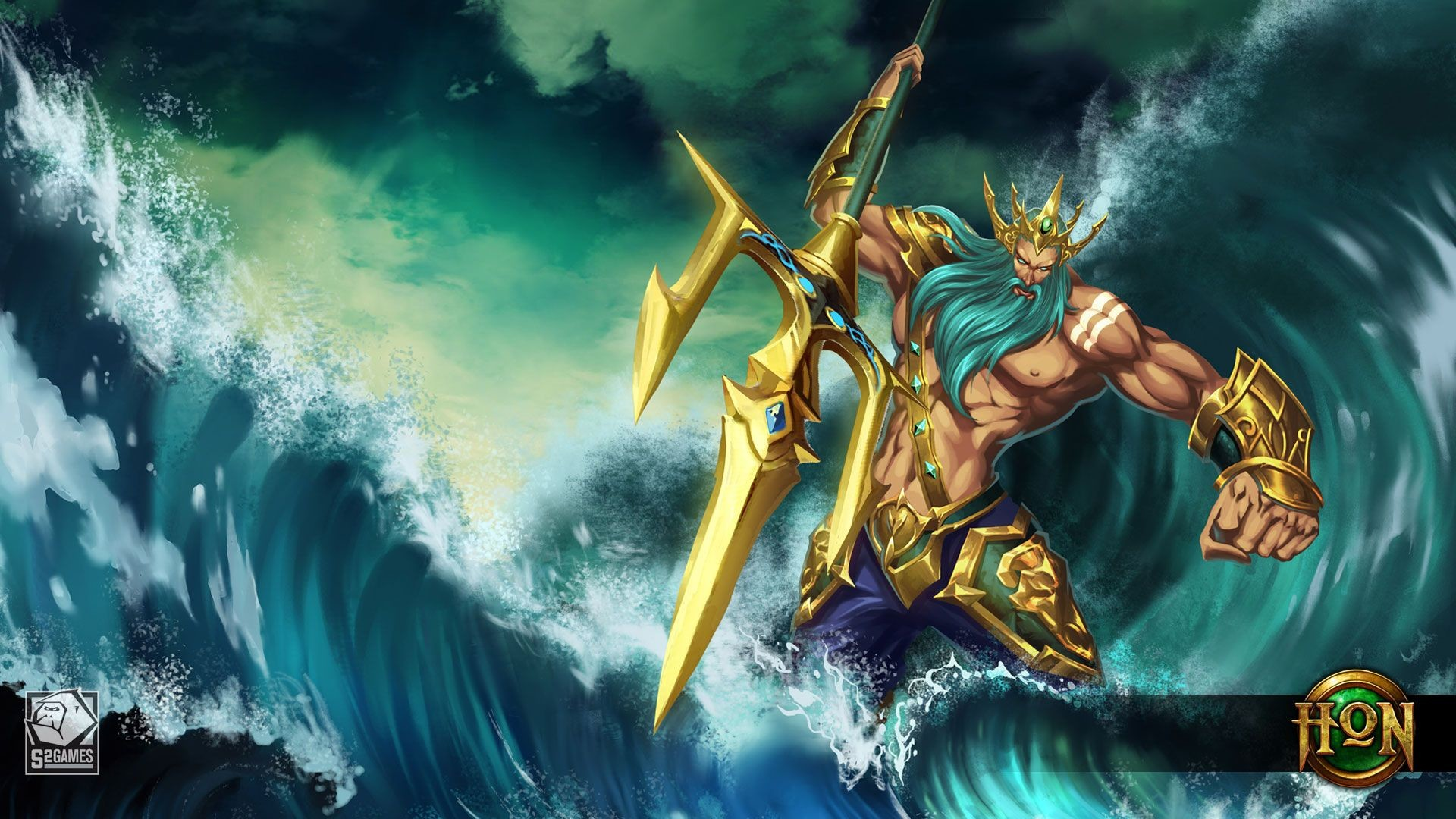 Res: 1920x1080, Poseidon Tempest Wallpaper | Heroes of Newerth Lore