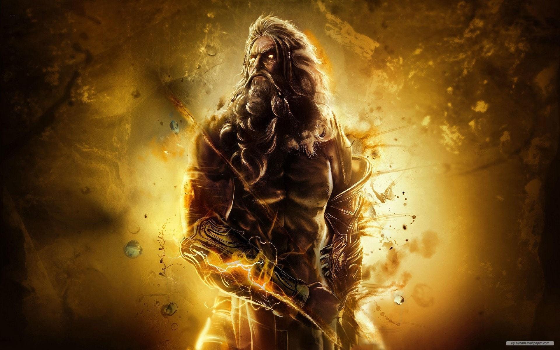 Res: 1920x1200, Zeus God Wallpaper God of war asc