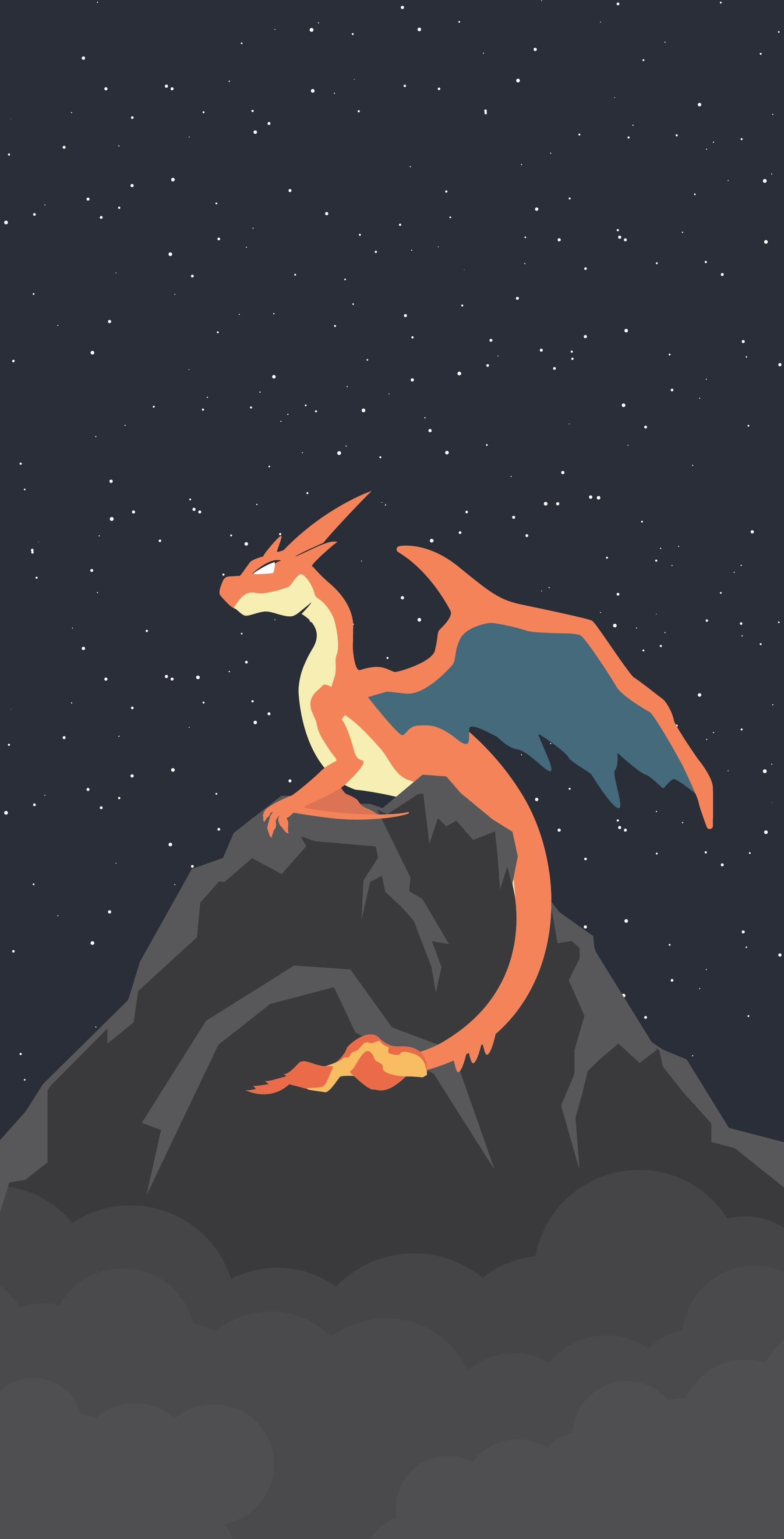 Res: 1790x3511, I made this Charizard Y wallpaper in Adobe Illustrator for a friend of  mine! [