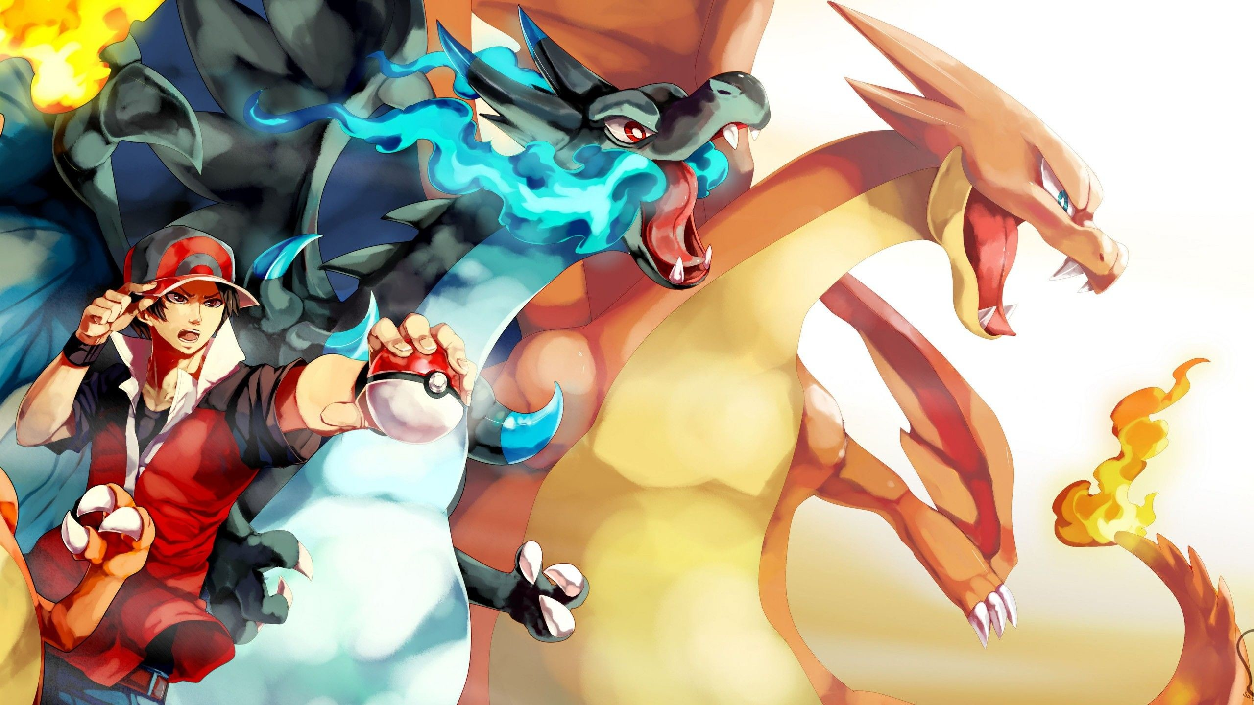 Res: 2560x1440, Red and Charizard, Pokemon  - Wallpaper - ImgPrix