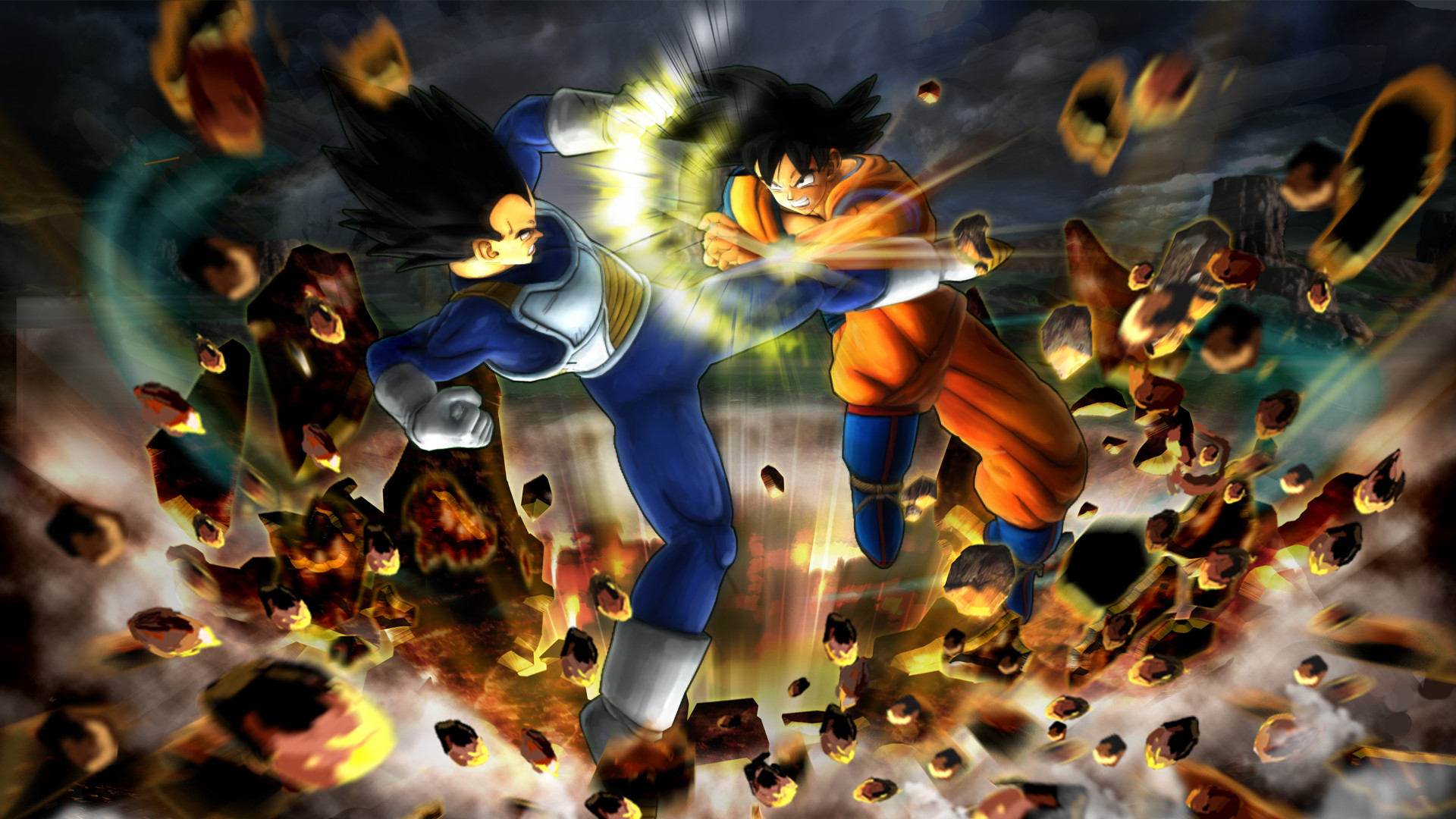 Res: 1920x1080, 3D Fight Wallpaper - Dragon Ball Z Wallpapers HD Anime