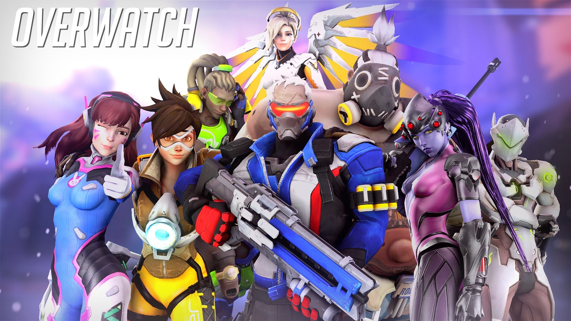 Res: 1920x1080, overwatch,backgrounds, futuristic, anime, fighting, poster, mecha warrior,  shooter, action, scifi, beautiful, fullscreen, fantasy desktop images  Wallpaper ...