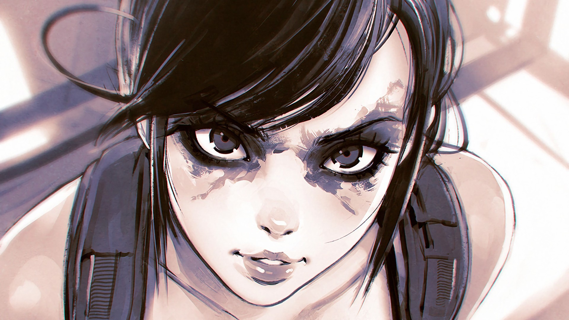 Res: 1920x1080, quiet video games brunette gray eyes 2d fan art anime girls manga metal  gear solid kuvshinov ilya wallpaper and background