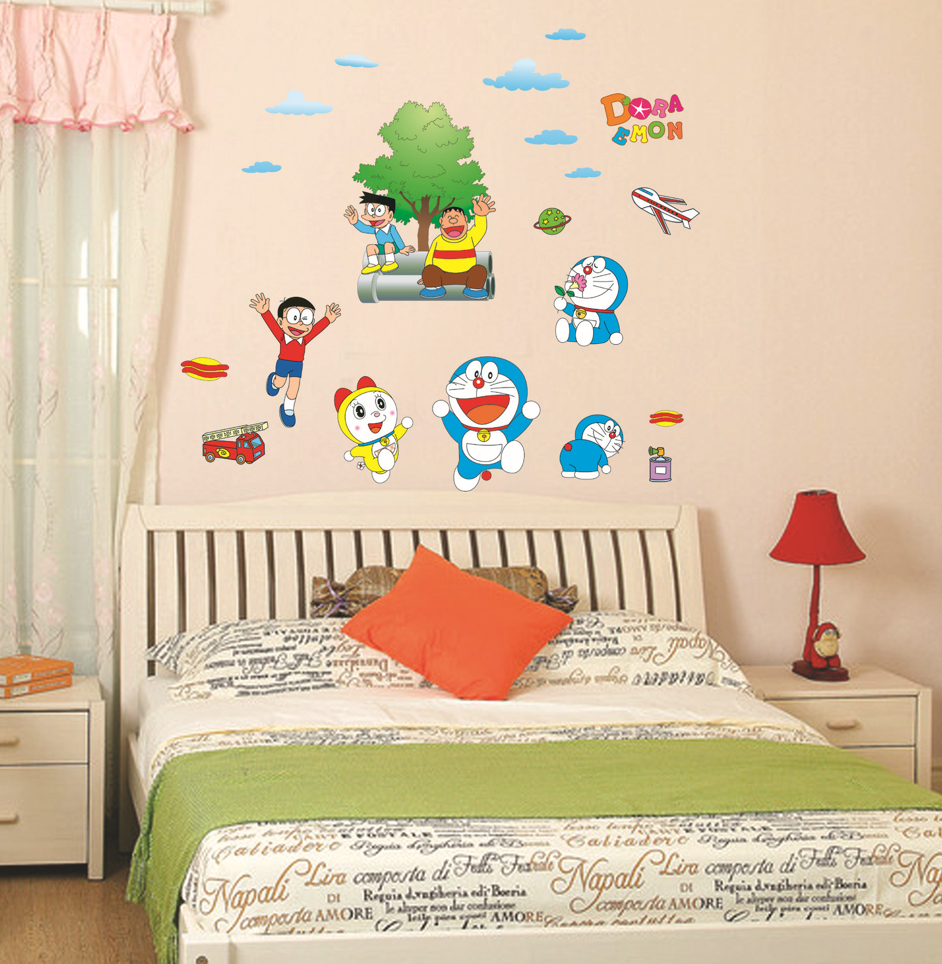 Res: 1876x1920, Cute Boy Nobita Nobi Cartoon Decoration Stickers Doraemon Originality Children's Baby Room Waterproof Mural Wallpaper Home Decor-in Wall Stickers from Home ...