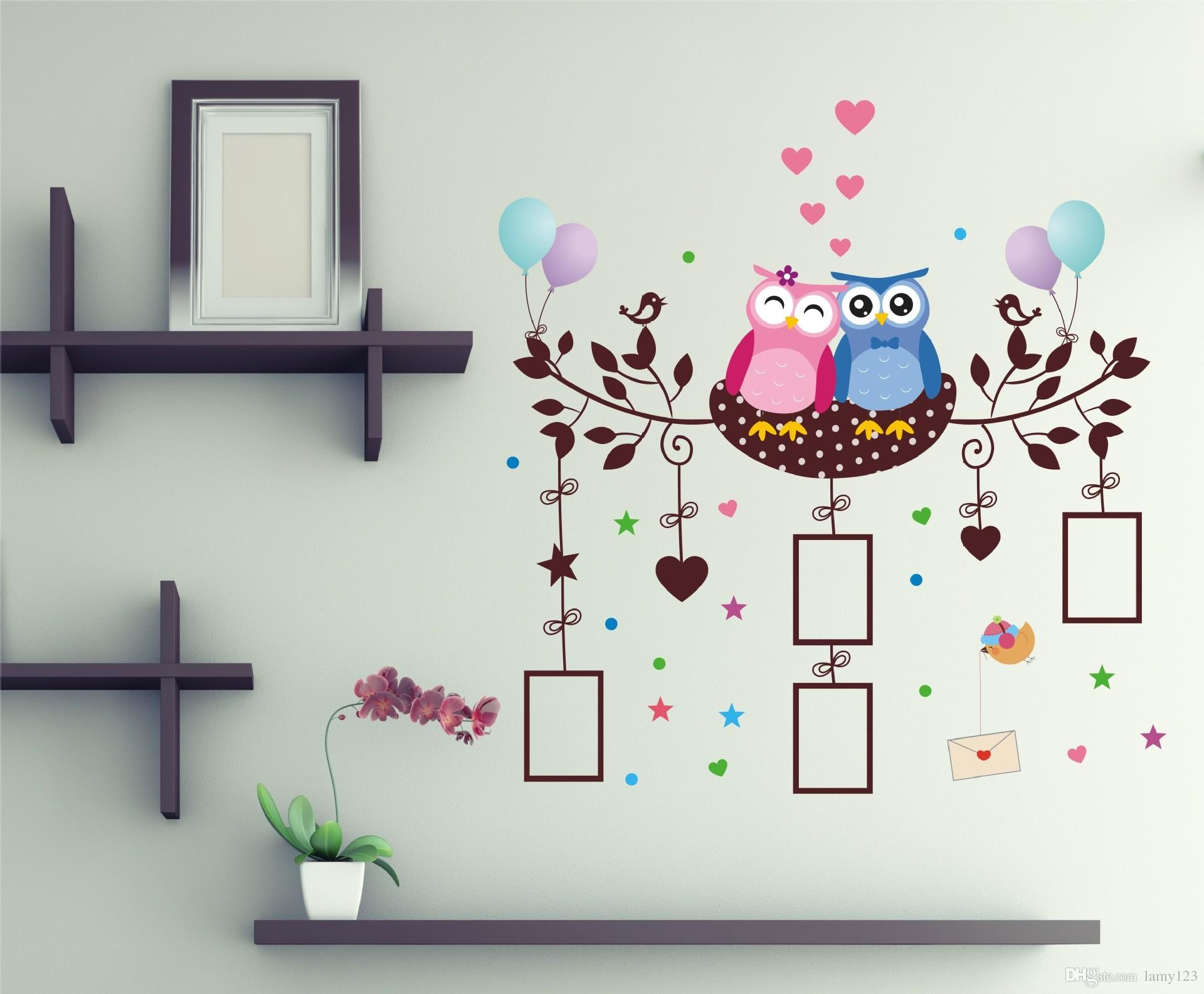 Res: 1920x1585, Wholesale Christmas Cartoon Owls Animals Wall Stickers Pvc Removable Waterproof Home Bedroom Living Room Baby Room Wallpaper Wall Decal Tree Stickers For ...