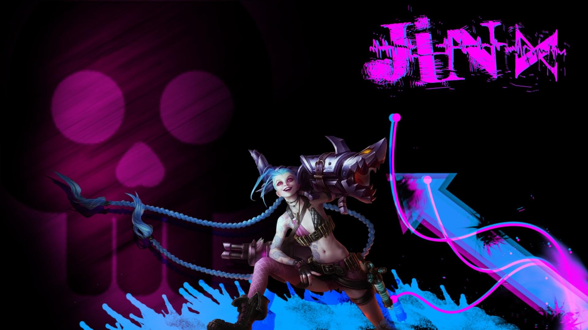 Res: 1920x1080, Jinx League of Legends Wallpaper 1080p