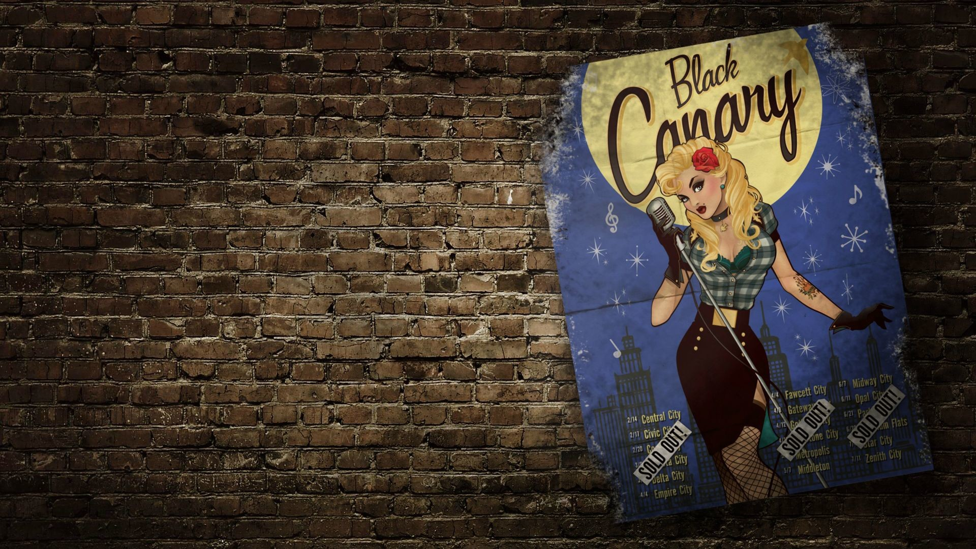 Res: 1920x1080, Black Canary