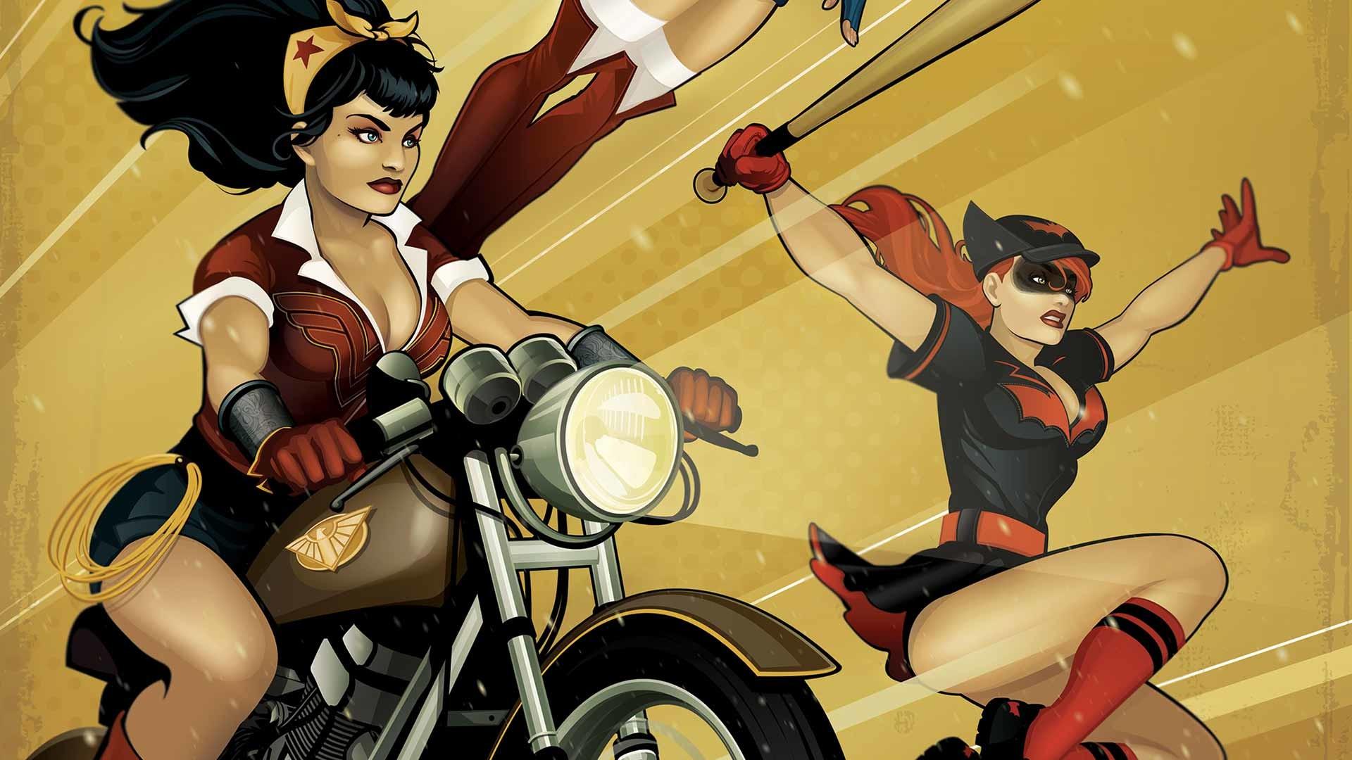 Res: 1920x1080, Comics - Bombshells DC Bombshells Wonderwoman Batwoman Wallpaper