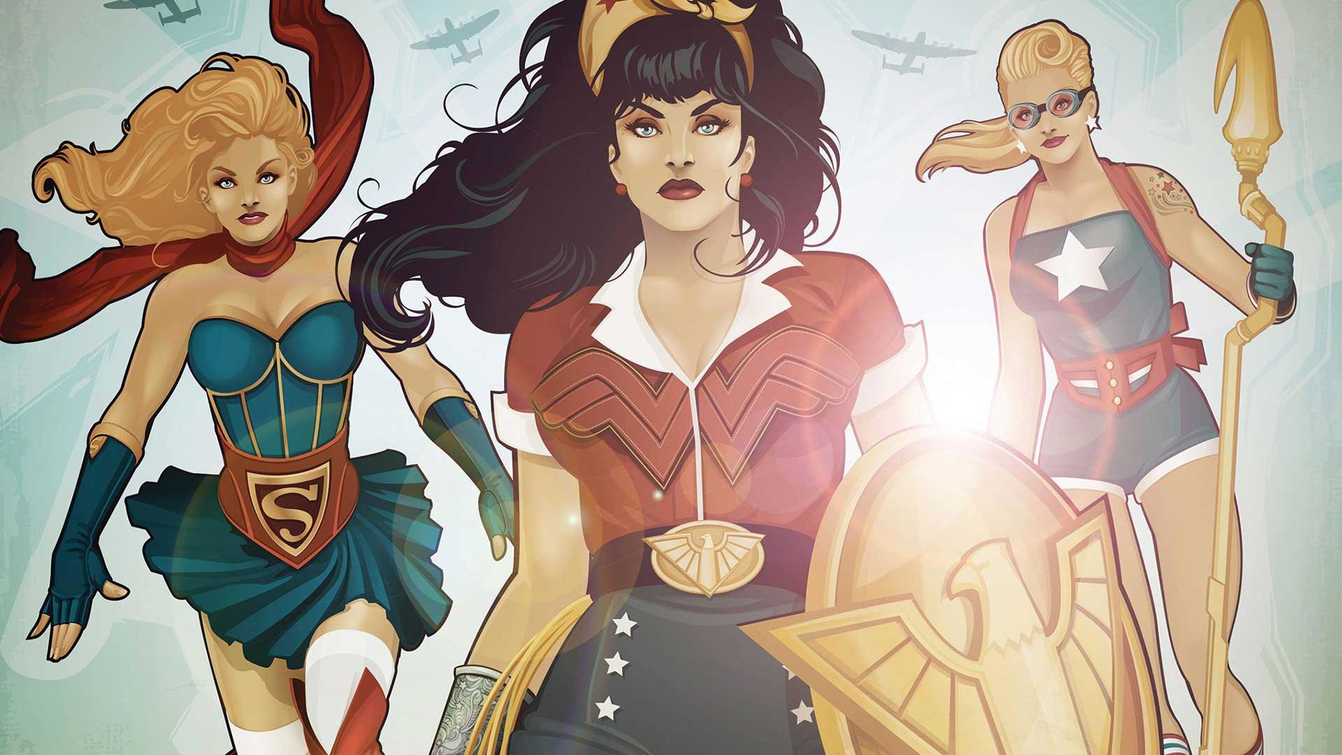Res: 1920x1080, What's in the theme? This theme pack consists of several HD DC Bombshells  wallpapers ...