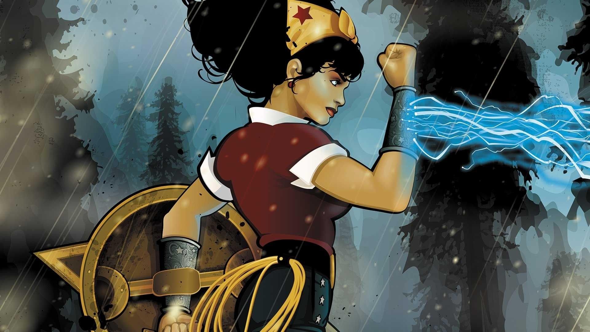 Res: 1920x1080, Comics - Bombshells Wonderwoman DC Bombshells Wallpaper