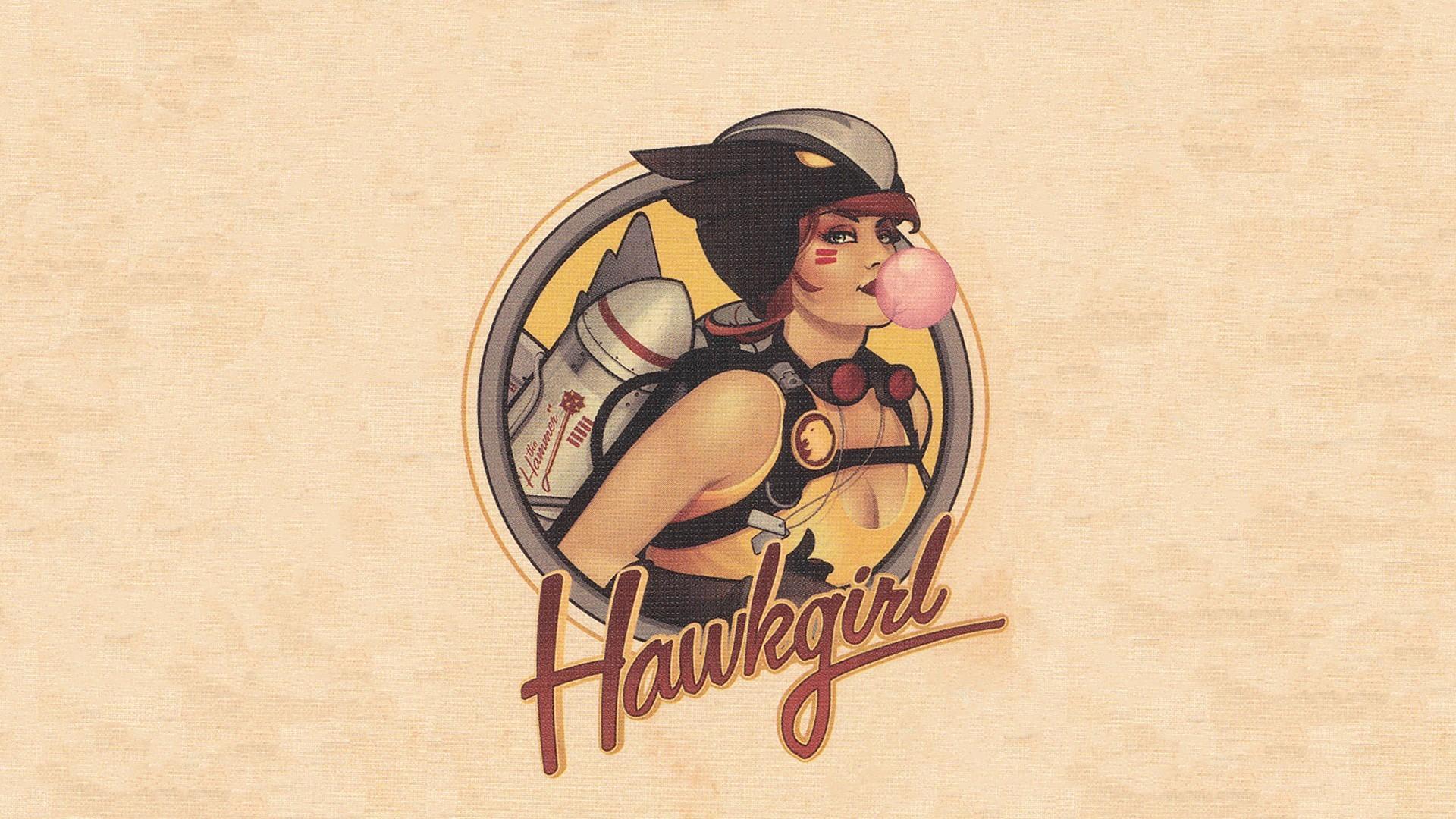Res: 1920x1080, redhead, Hawkgirl, DC Comics, Textured, Superheroines, Texture, Comics,  Comic books, Bombshells Wallpapers HD / Desktop and Mobile Backgrounds