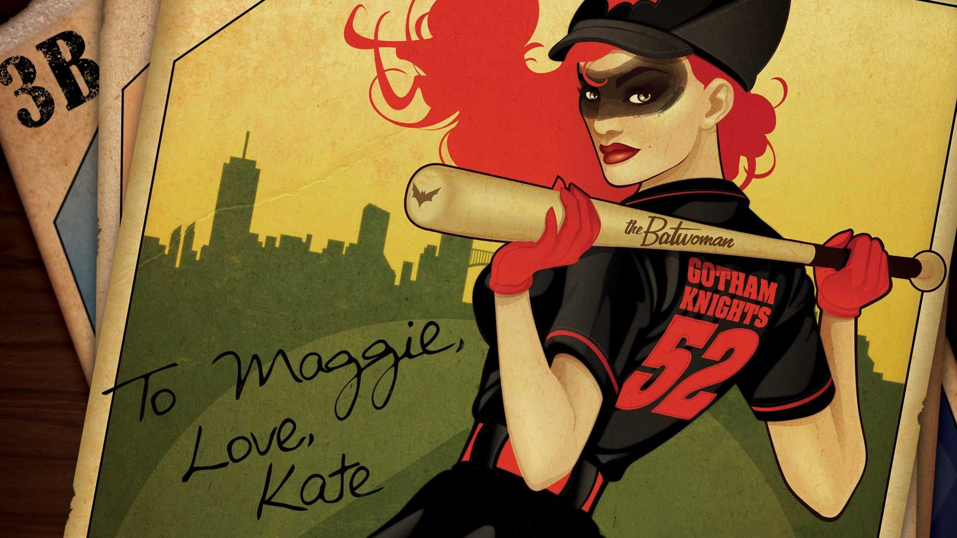 Res: 1920x1080, In DC Bombshells, Batwoman is a vigilante who fights crime in her baseball  uniform.