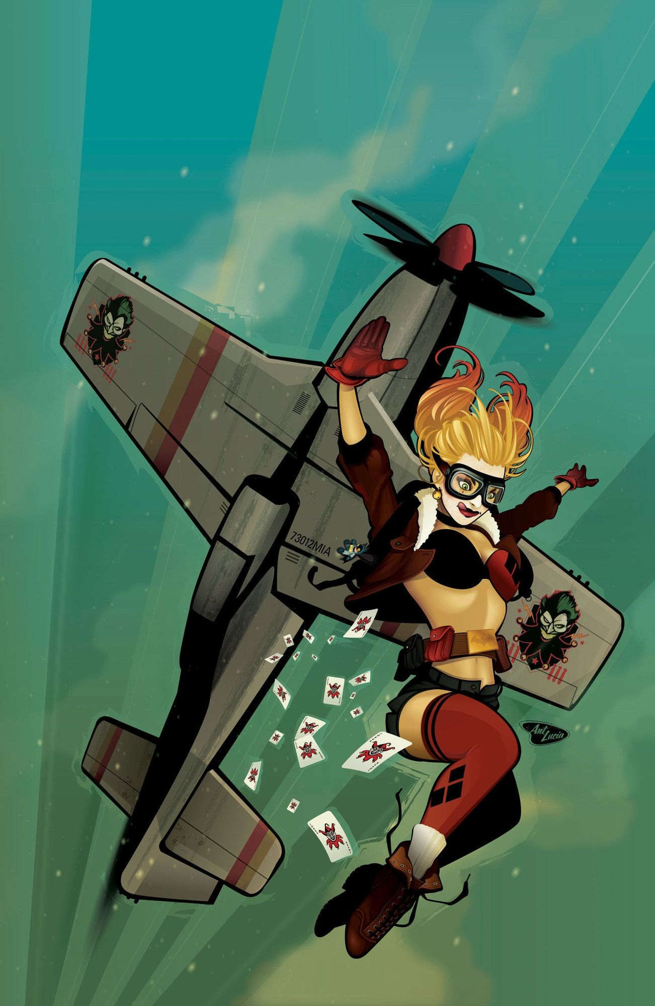 Res: 1302x2000, We talk to the minds behind DC's upcoming Harley Quinn scratch n' sniff  comic. What will the smells be? Harley Quinn Bombshell Variant by Ant Lucia