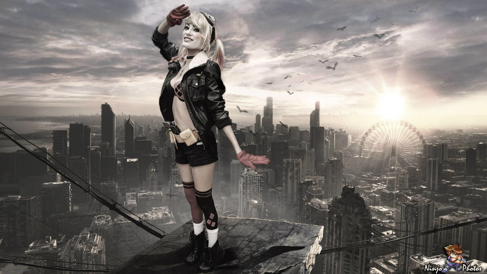 Res: 2048x1152, ... Bombshell Harley Quinn Cosplay AWA Con 2014 (5) by derpmyBASS