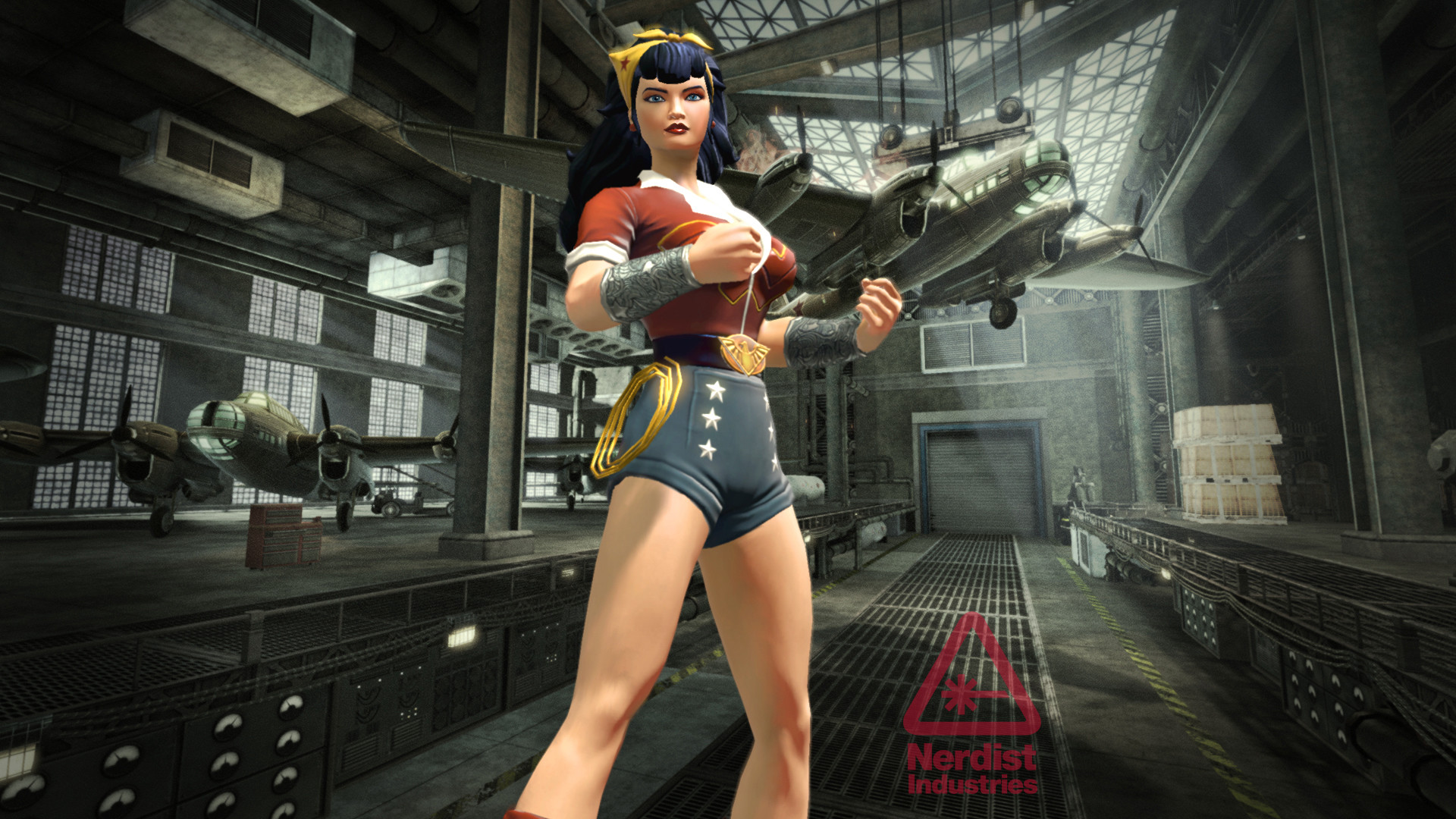 Res: 1920x1080, Exclusive: See Bombshells Harley Quinn and Supergirl in DC Universe Online  | Nerdist