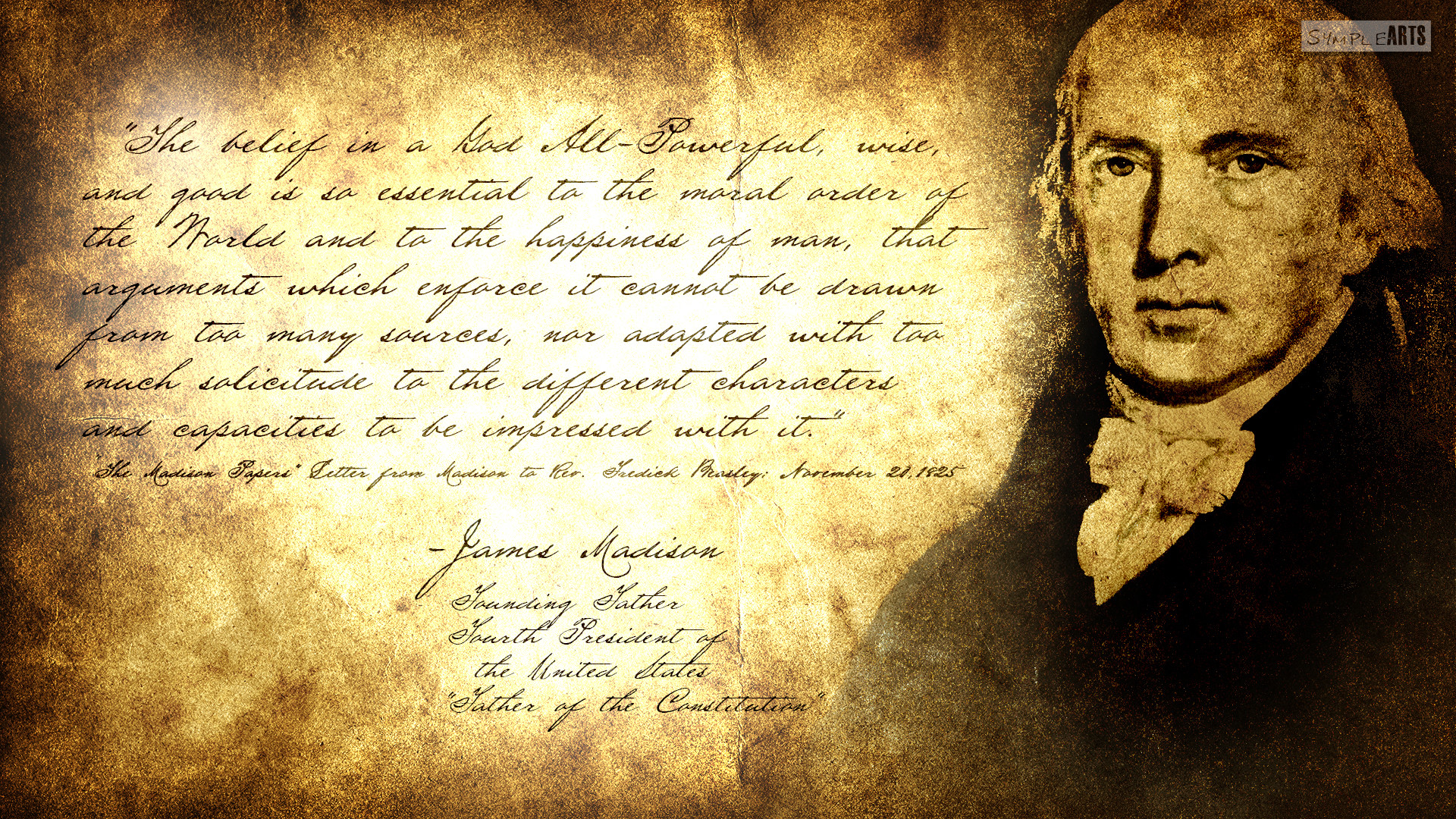 Res: 1920x1080, ... Separation Of Church And State: James Madison by SympleArts