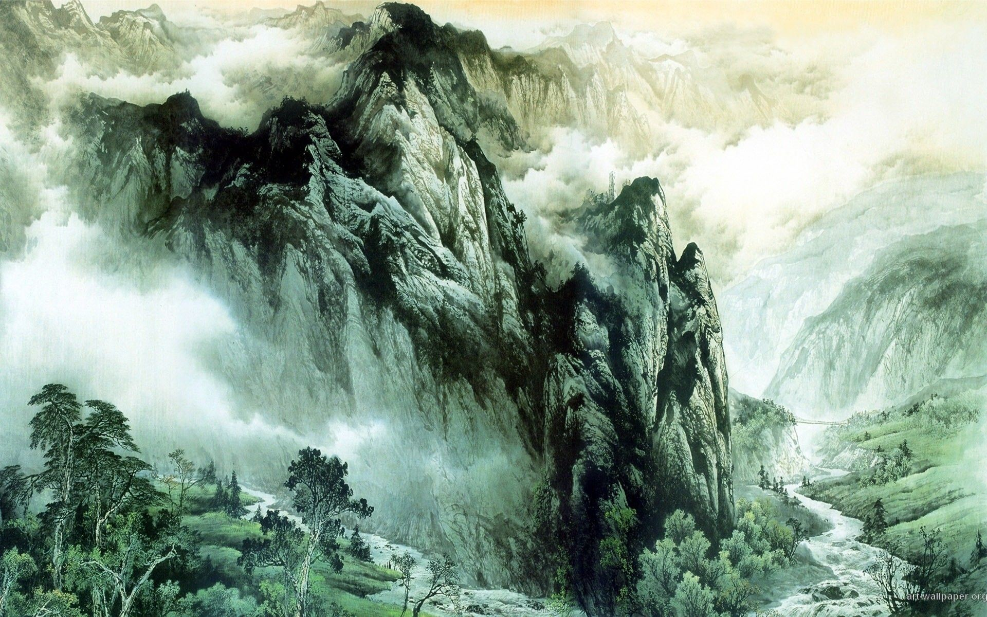 Res: 1920x1200, Asian Landscape Wallpaper Background 1 HD Wallpapers