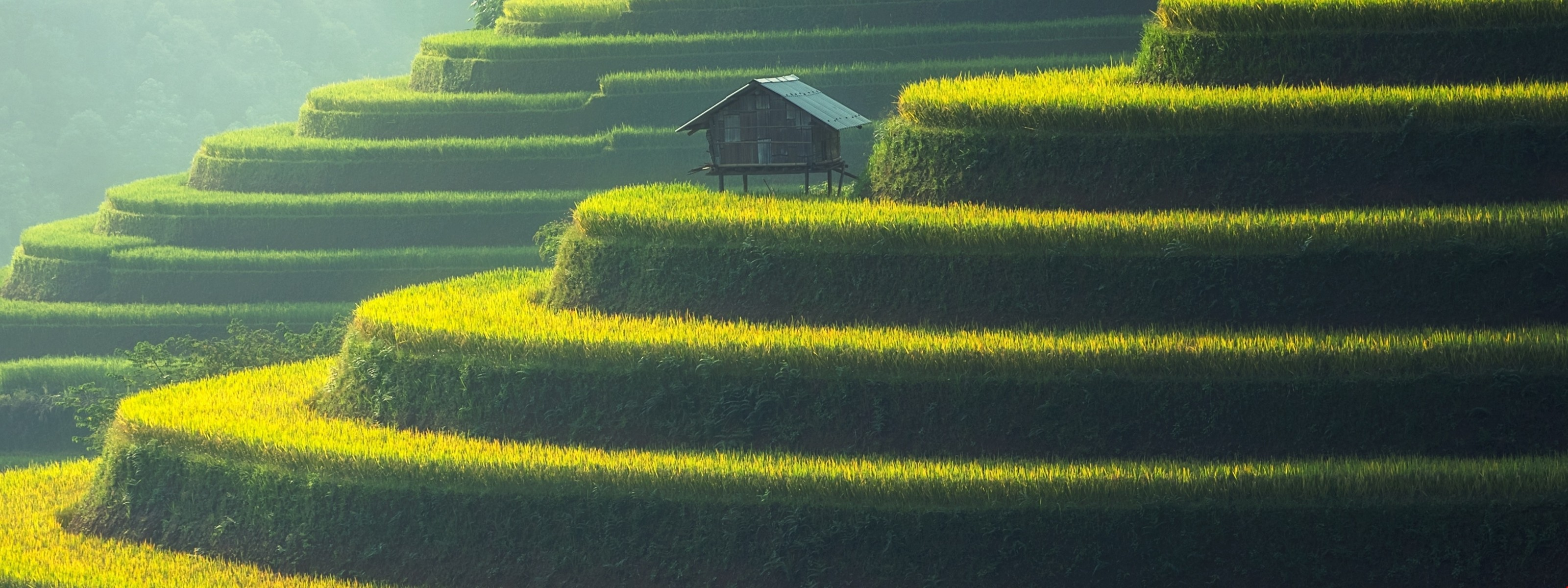 Res: 3200x1200, Download Beautiful Asian Landscape - Asia Wallpapers HD