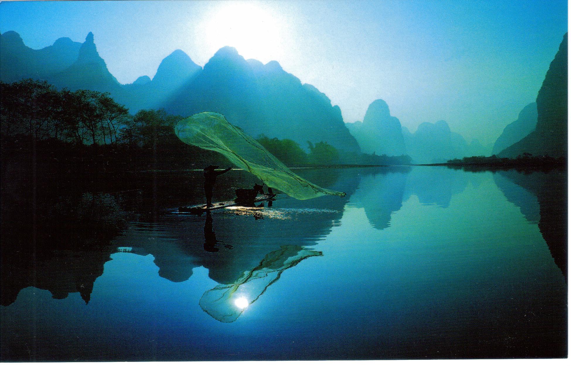 Res: 1949x1252, Li River Landscape Wallpaper