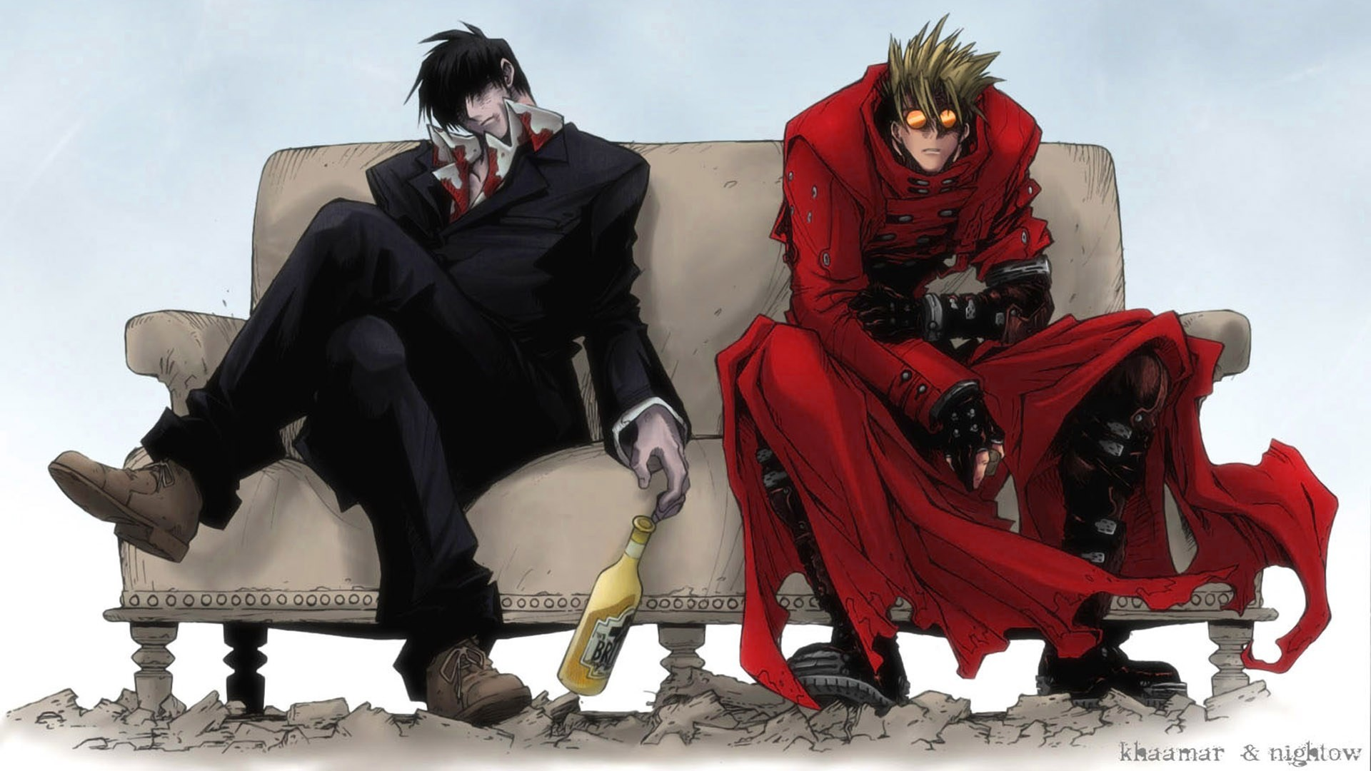 Res: 1920x1080, Vash the Stampede Trigun Nicholas D. Wolfwood 1080p HD Wallpaper Background