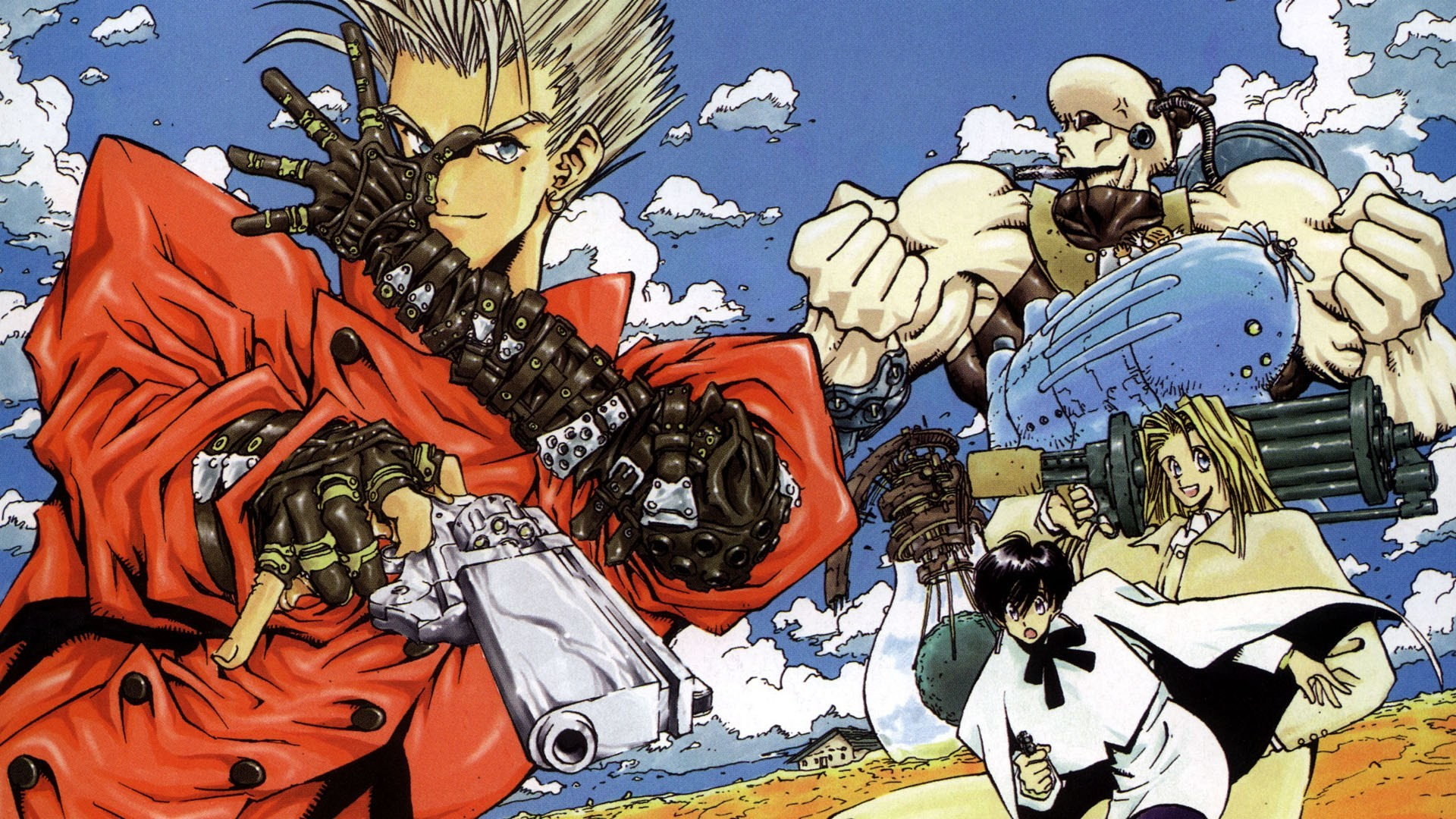 Res: 1920x1080, Vash the Stampede Trigun 1080p HD Wallpaper Background
