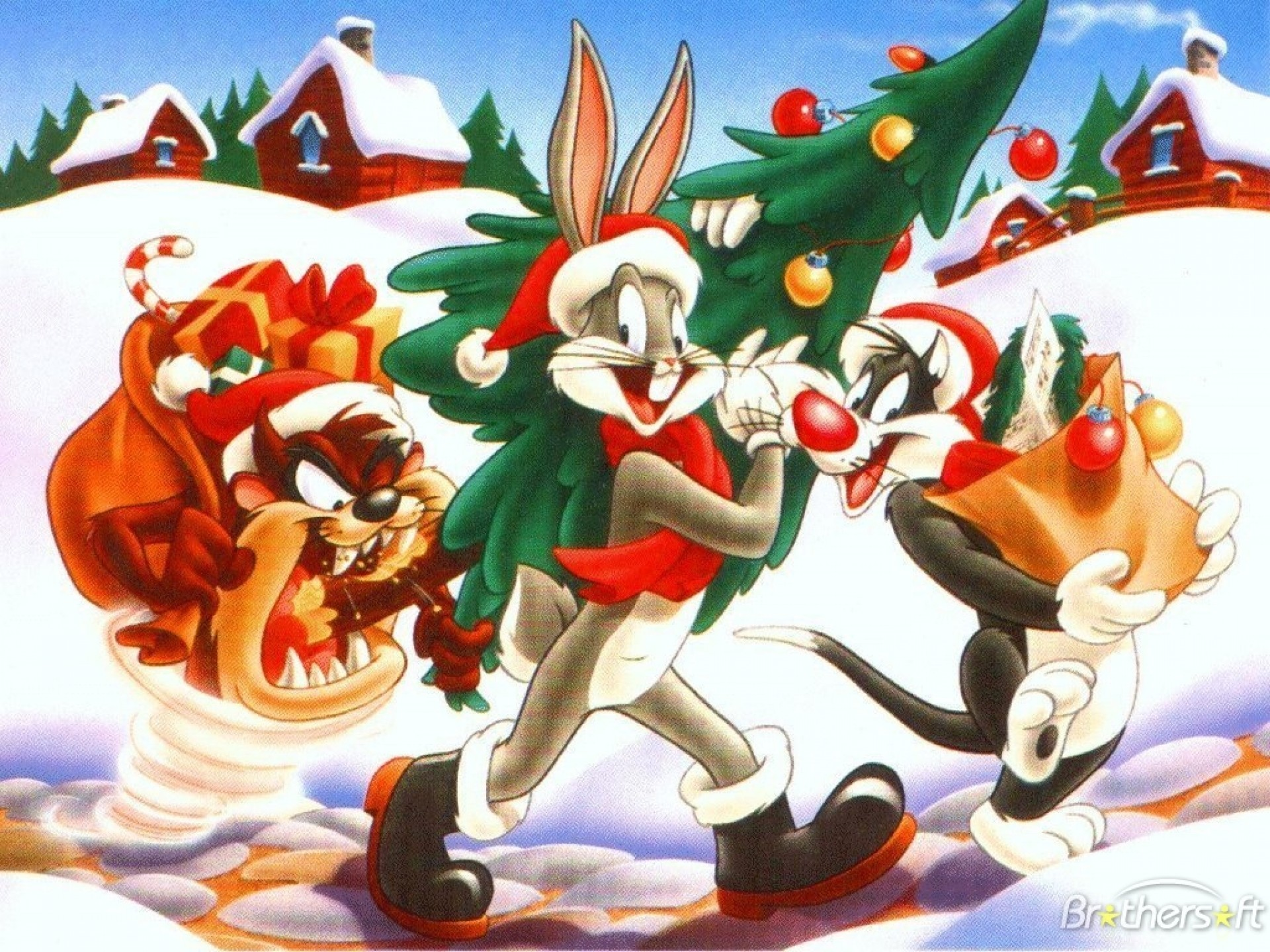 Res: 1920x1440, Looney tunes christmas bugs bunny g wallpaper |  | 184439 |  WallpaperUP