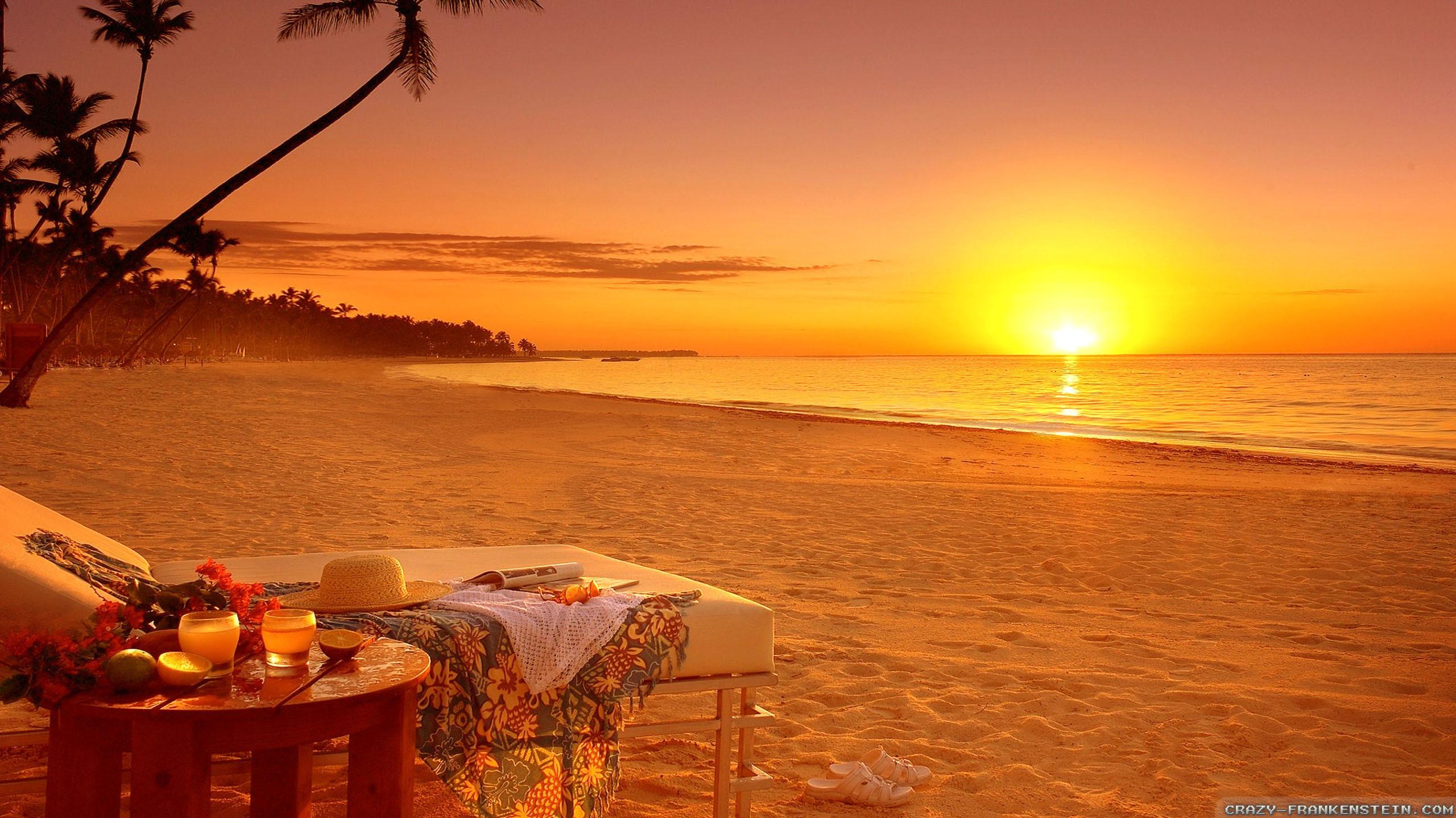Res: 2560x1440, Wallpapers Beach Scene (68+)