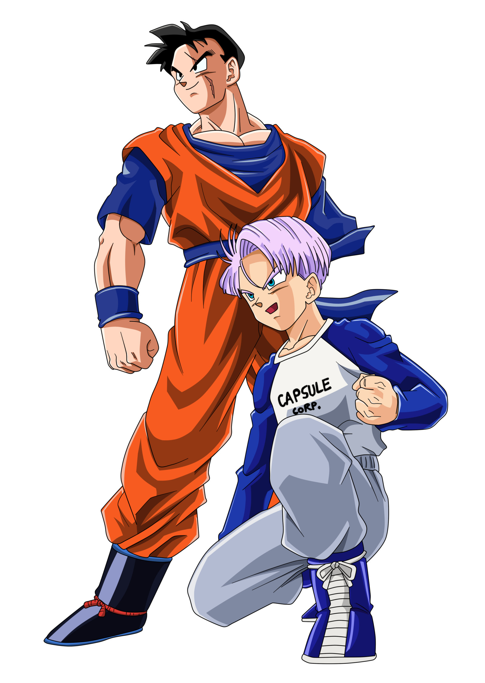 Res: 1600x2252, ... Future Gohan and Trunks Color by BoScha196