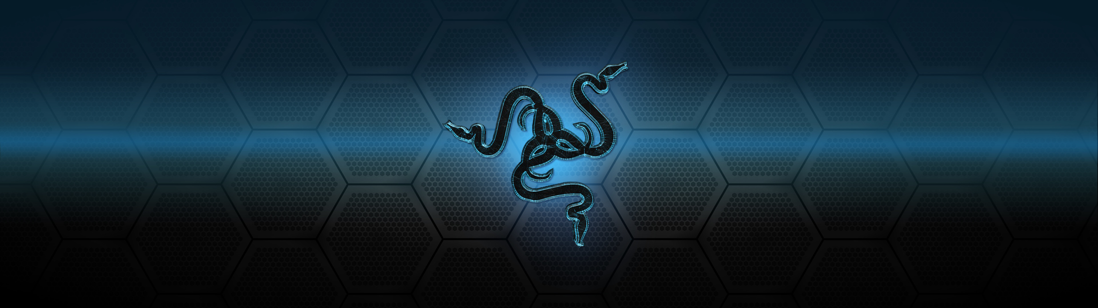 Res: 3840x1080, Razer Blue Graffiti Wallpapers 20 - 3840 X 1080