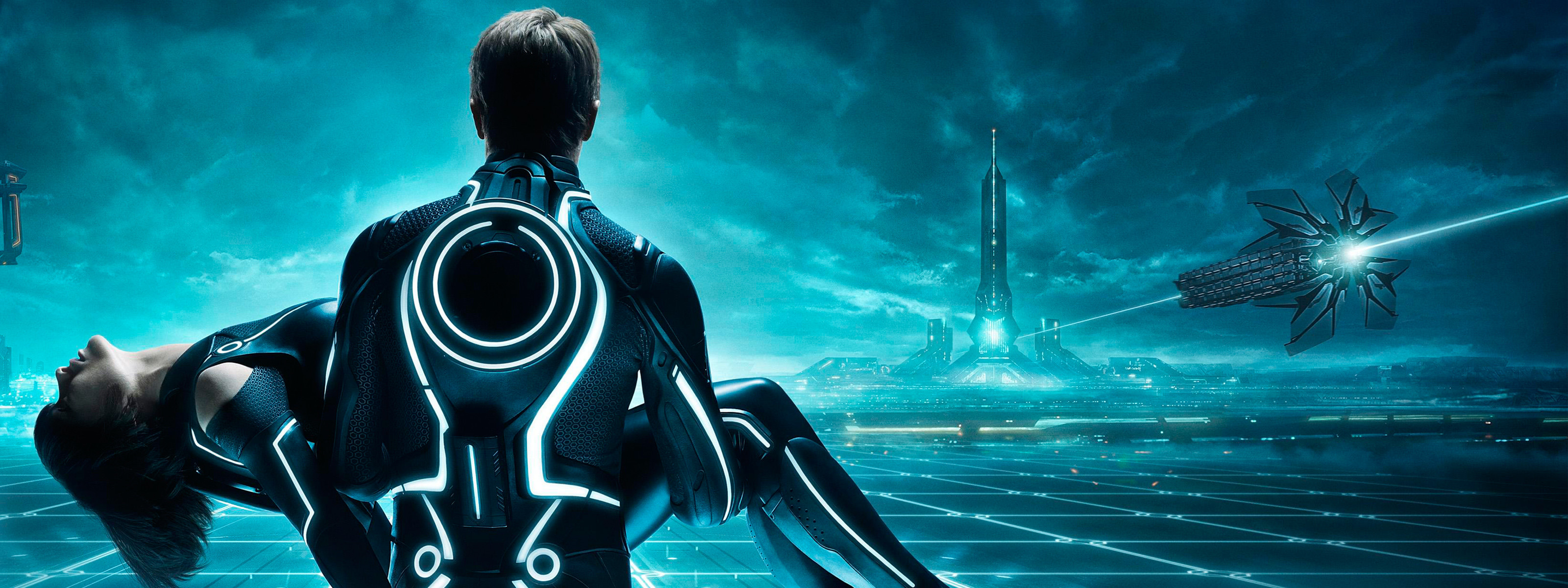 Res: 3200x1200, Tron Legacy Tripple Monitor Wallpapers HD Wallpapers