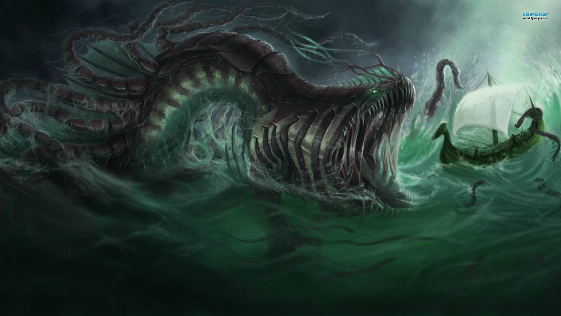 Res: 1920x1080, sea monsters - Google Search