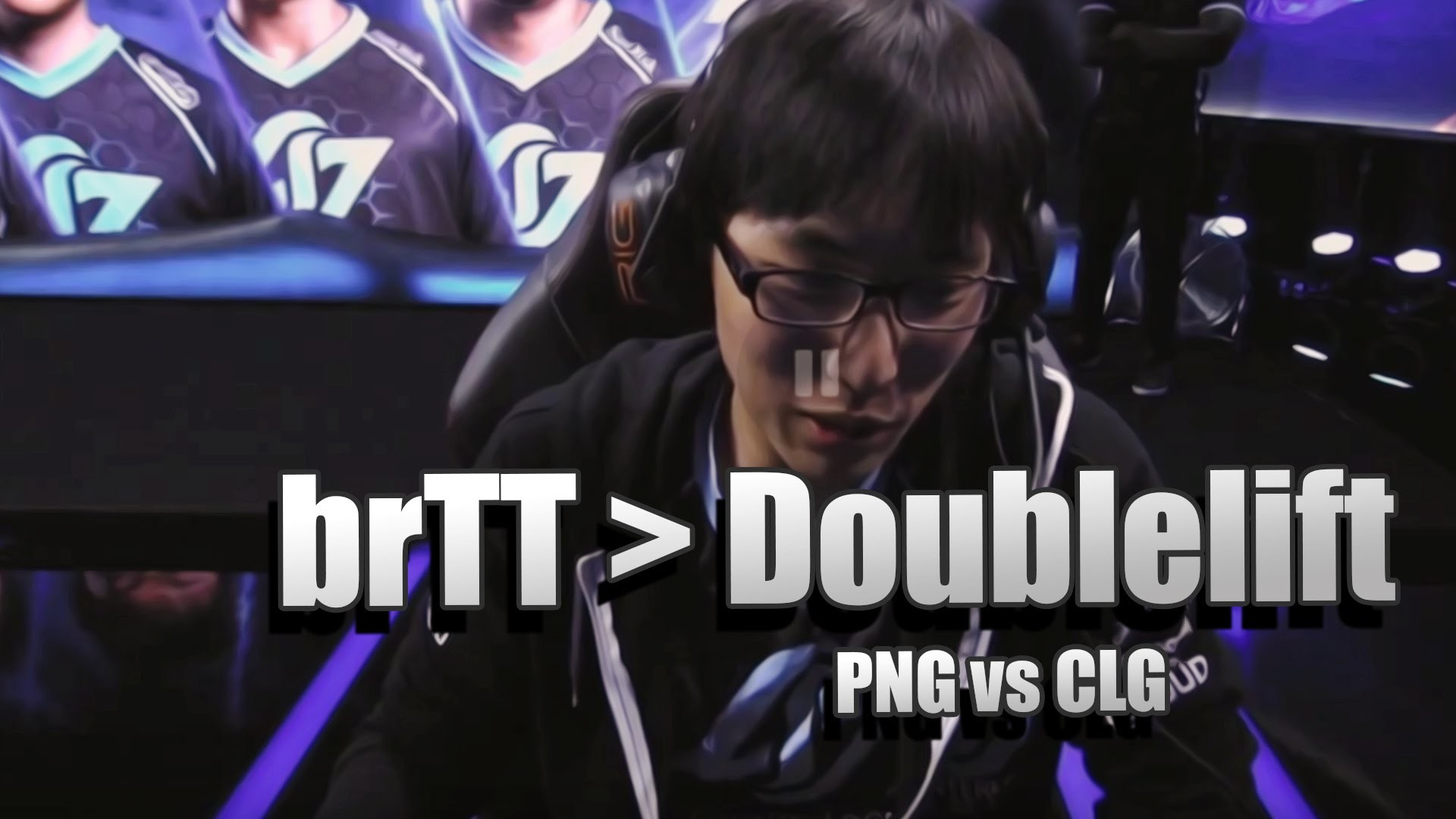 "Res: 1920x1080, Doublelift about reading messages saying ""Pain Gaming brTT is better than  Doublelift"" - PNG vs CLG - YouTube"
