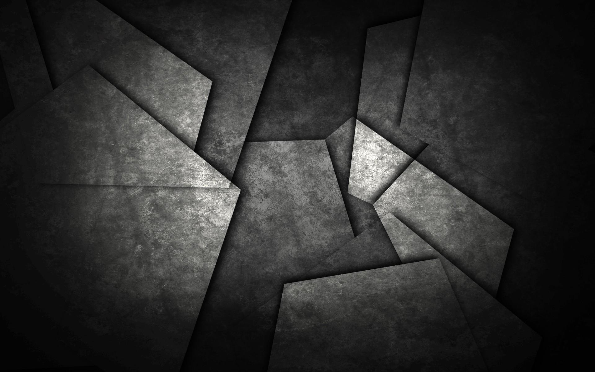Res: 1920x1200, Black Abstract Broken Glass Wallpaper