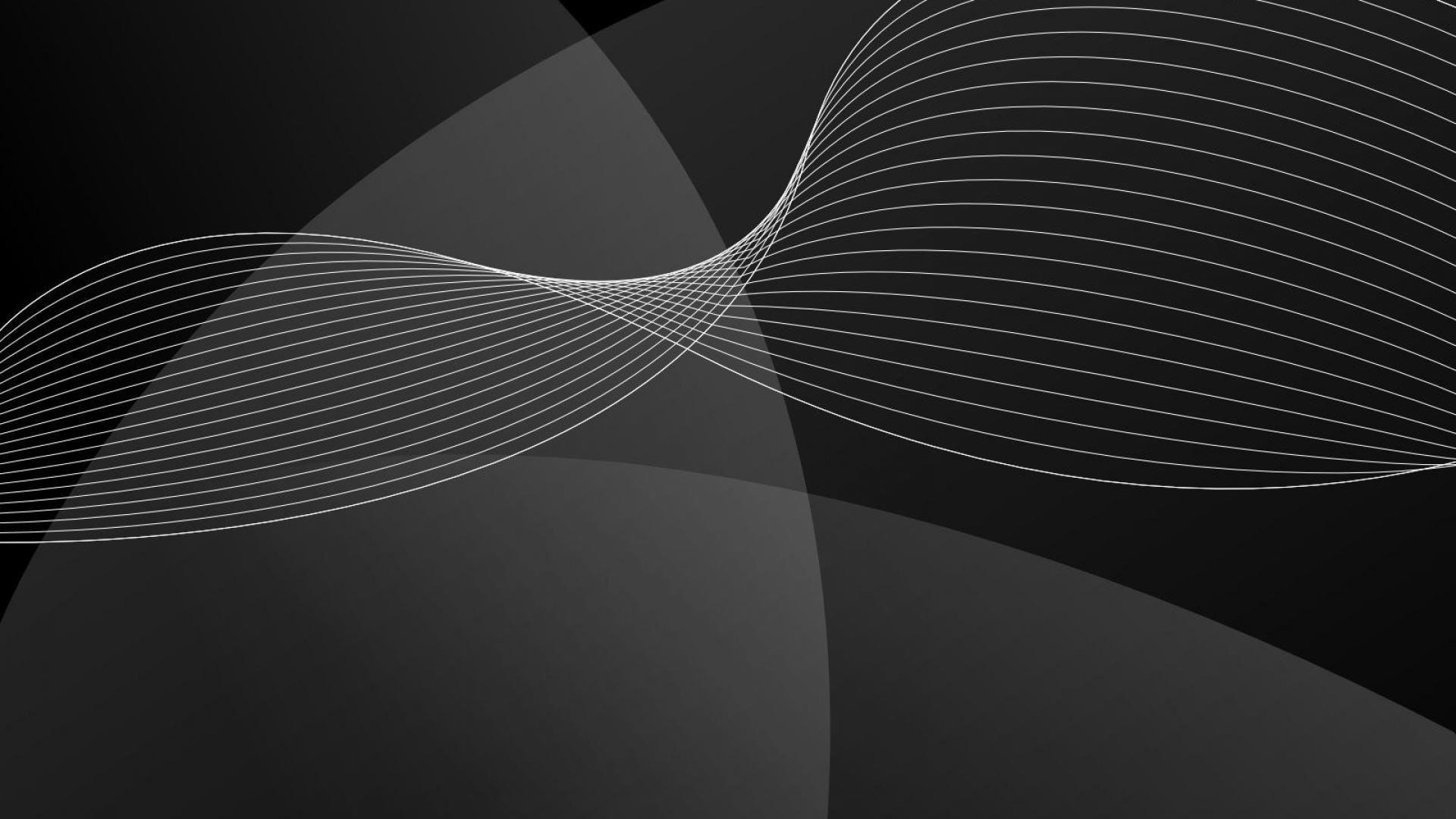 Res: 1920x1080, abstract black waves