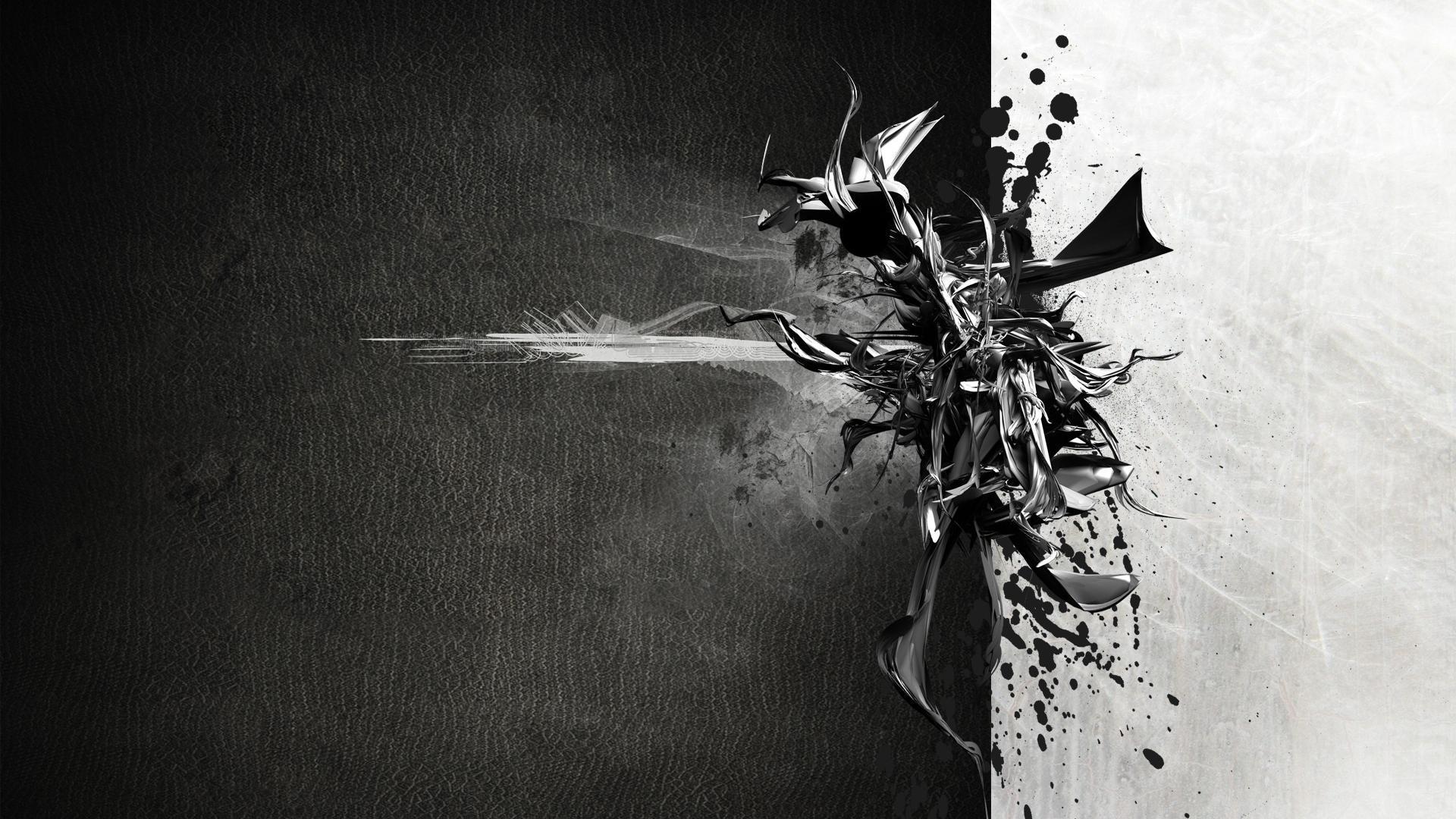 Res: 1920x1080, Black Wallpaper Abstract