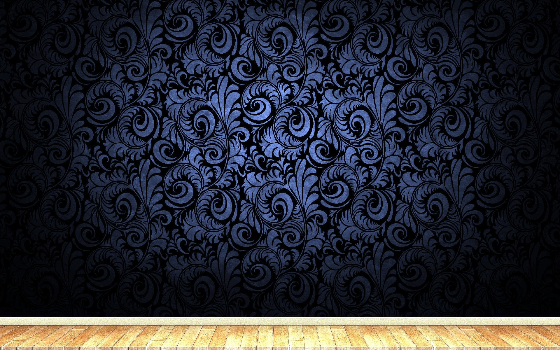 Res: 1920x1200, Flowery design on black abstract wallpapers