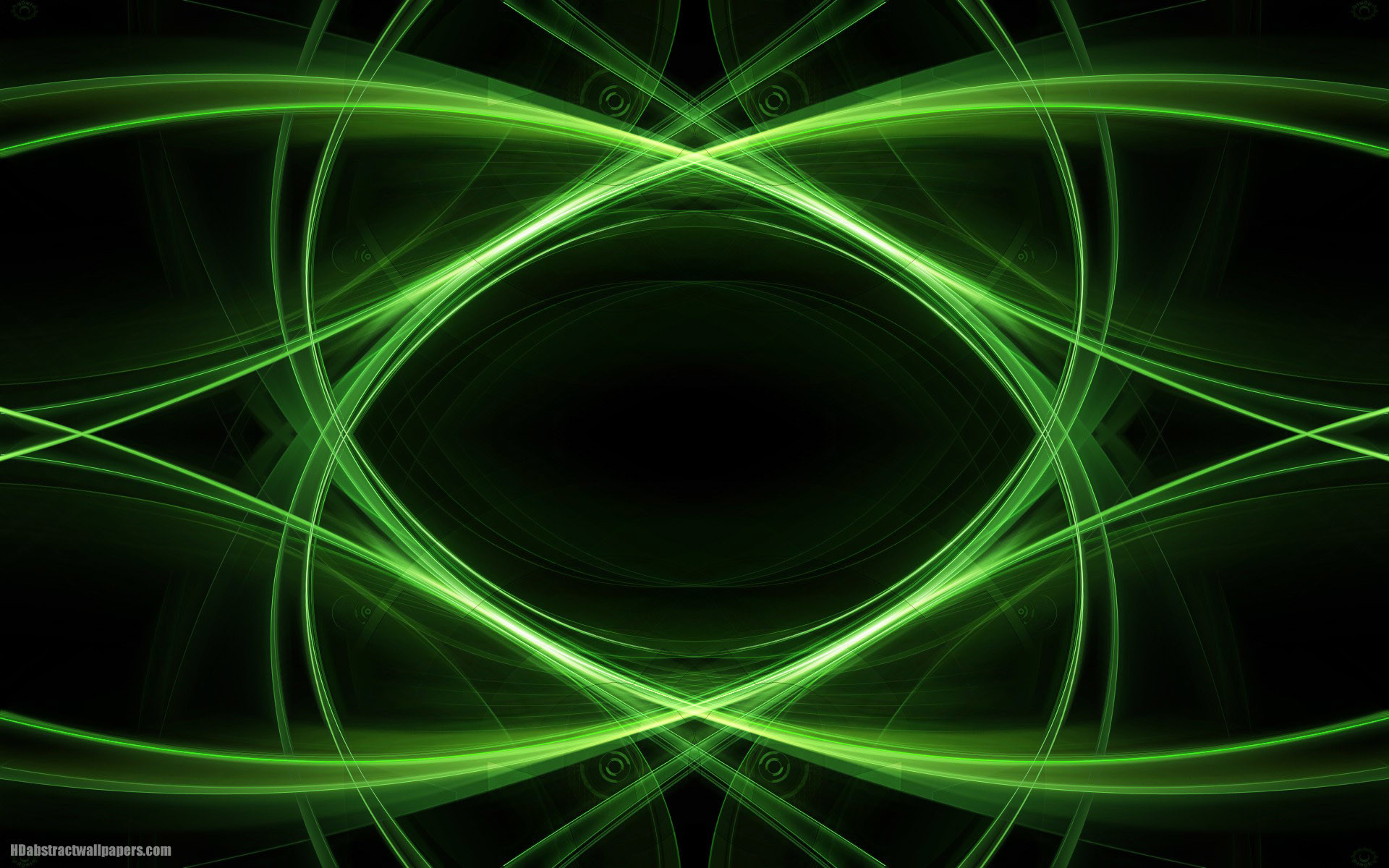 Res: 1920x1200, Black abstract wallpaper with green lines