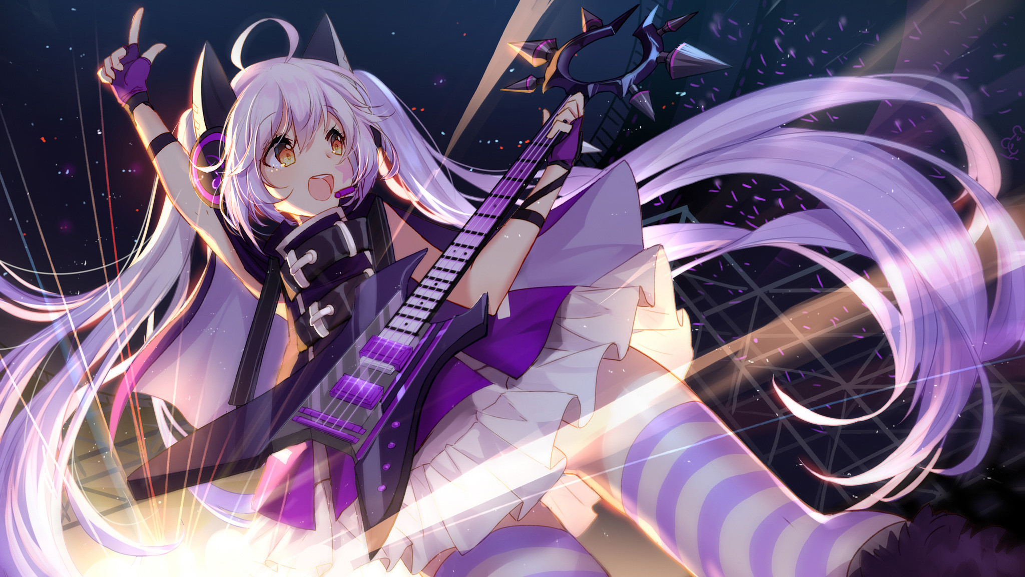 Res: 2048x1152, anime-girl-concert-4k-bi.jpg