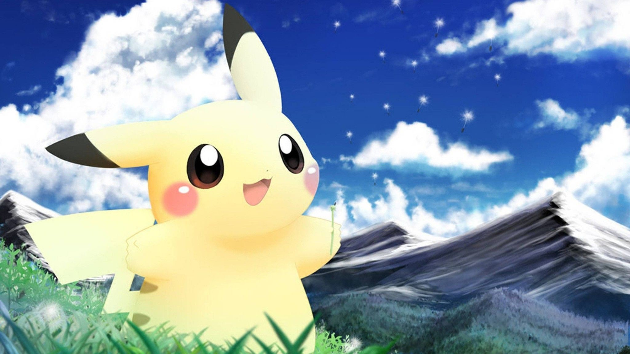Res: 2048x1152, Pikachu, Clouds - Wallpapers – yoyowall.com