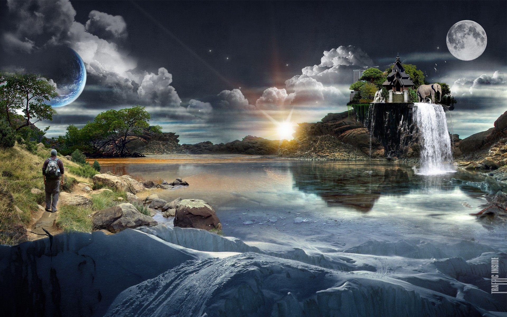 Res: 1920x1200, Amazing Scenery HD Wallpaper. 3D Wallpapers