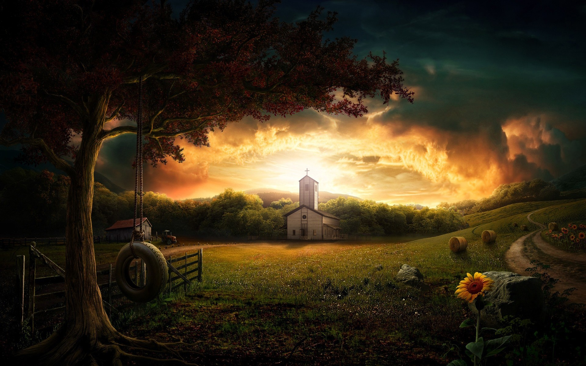 Res: 1920x1200, Amazing Church View HD Wallpaper. 3D Wallpapers